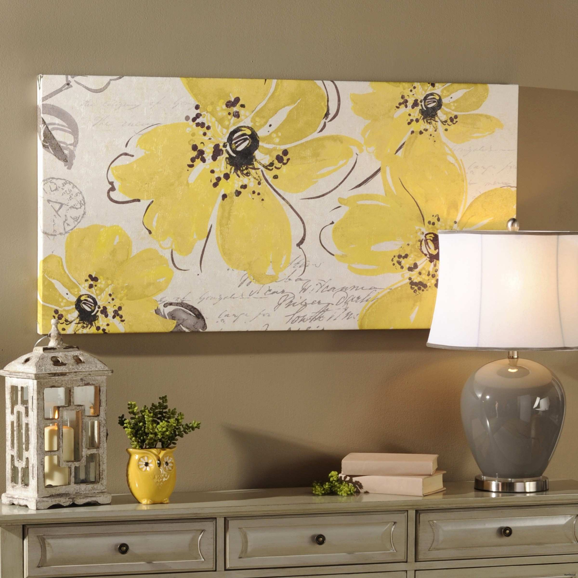 32 Lovely Blue and Yellow Wall Decor