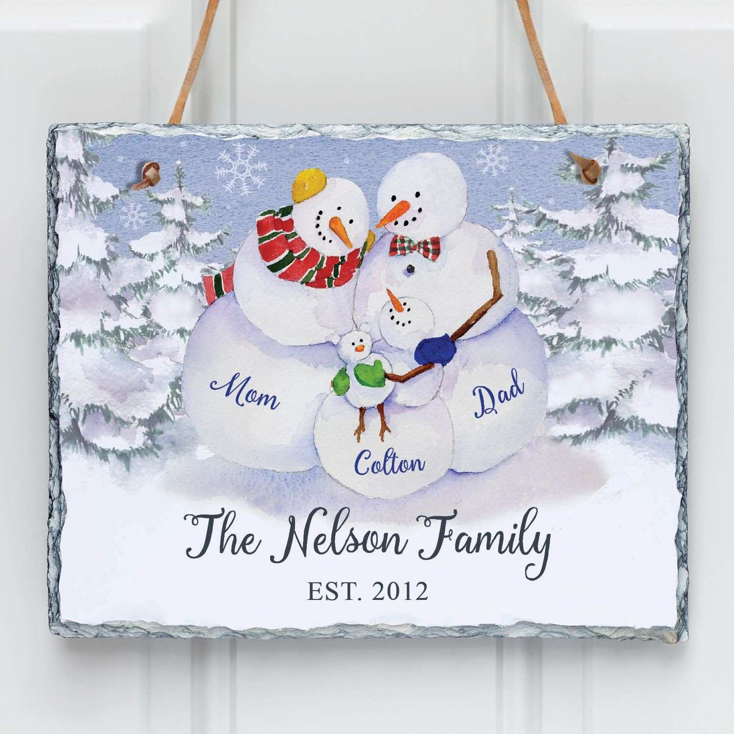 Joy of Family Personalized Wall Slate e Child Wall Art