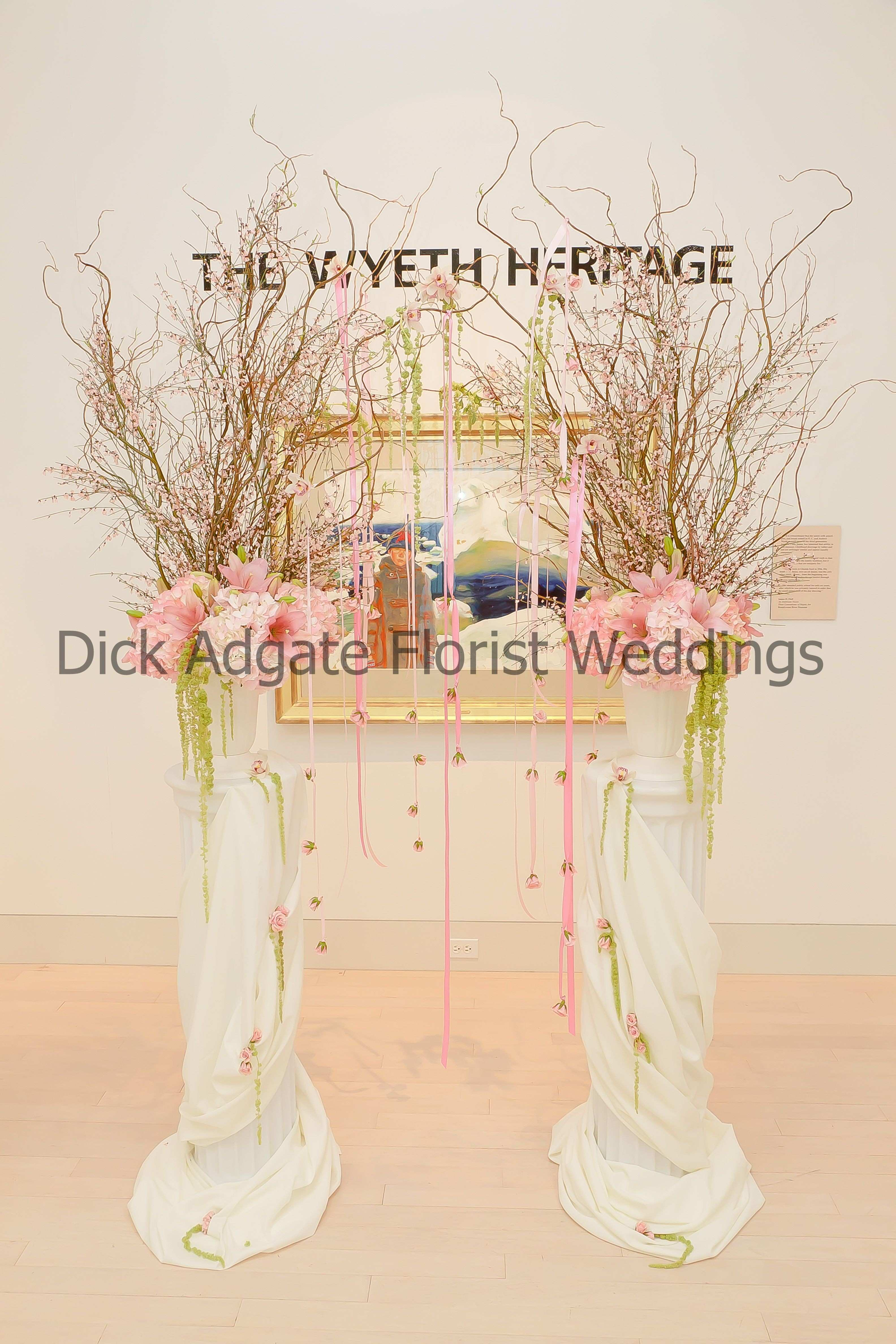 Ceremony arch at Butler Art Museum Howland Branch