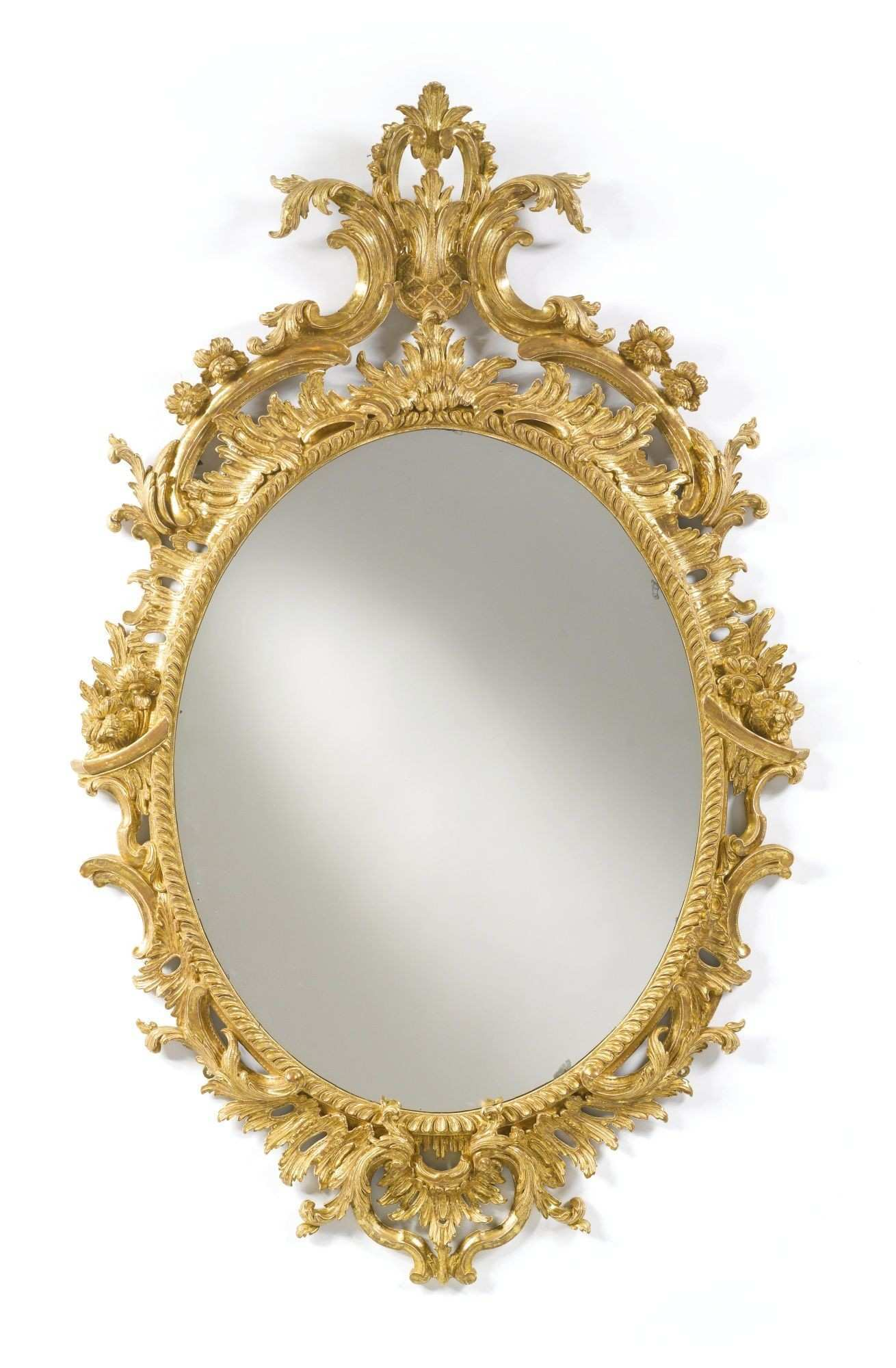 A George II giltwood oval pier mirror circa 1755 height 4 ft 4 3 4