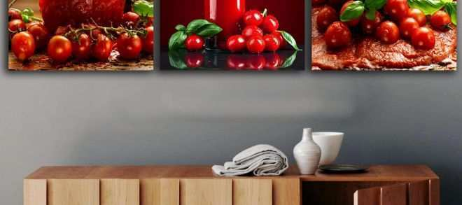 Butterfly Canvas Wall Art Fresh 3 Panels tomatoes Juice Paintings for the Kitchen Fruit Wall Decor