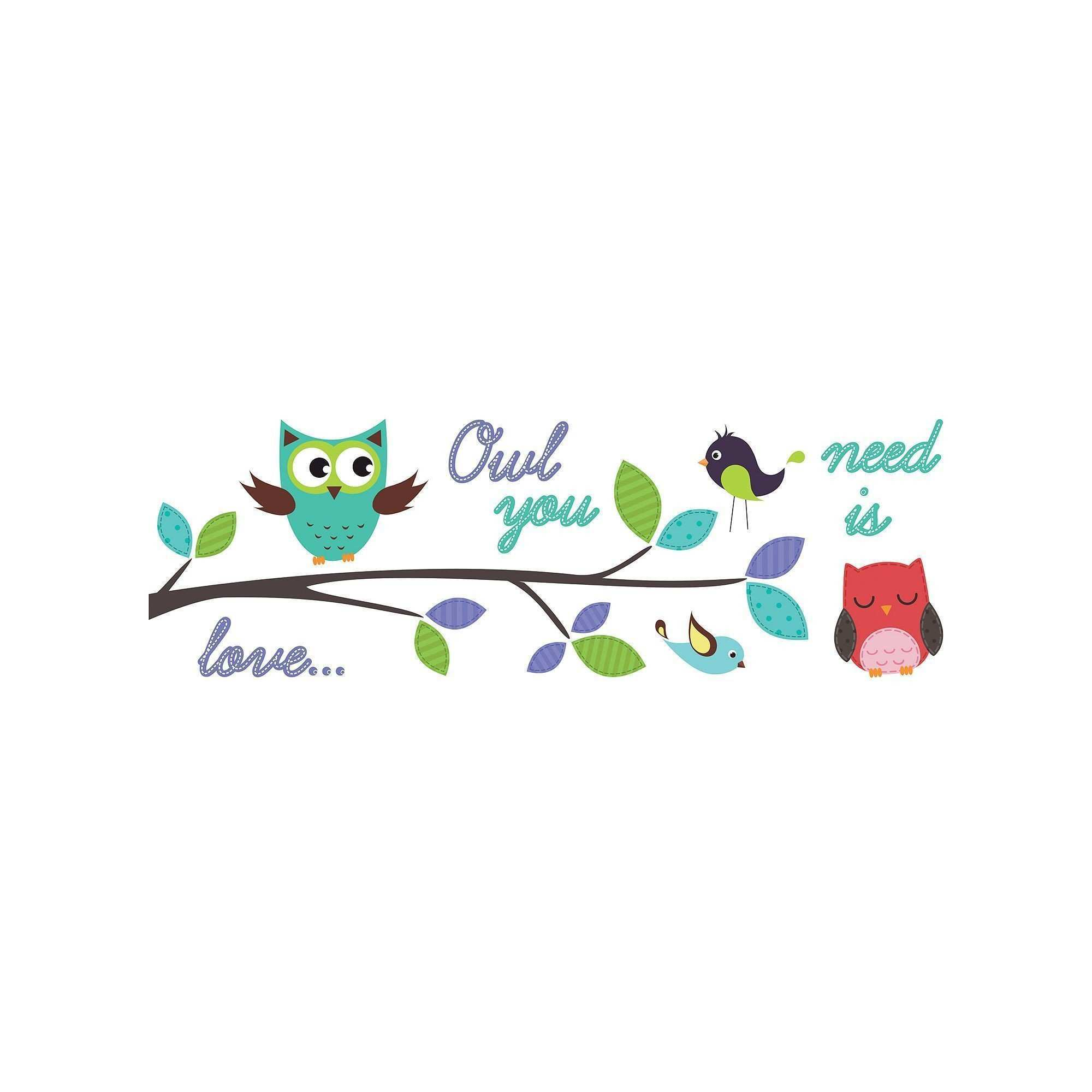 WallPops Owl You Need is Love Wall Decals Multicolor