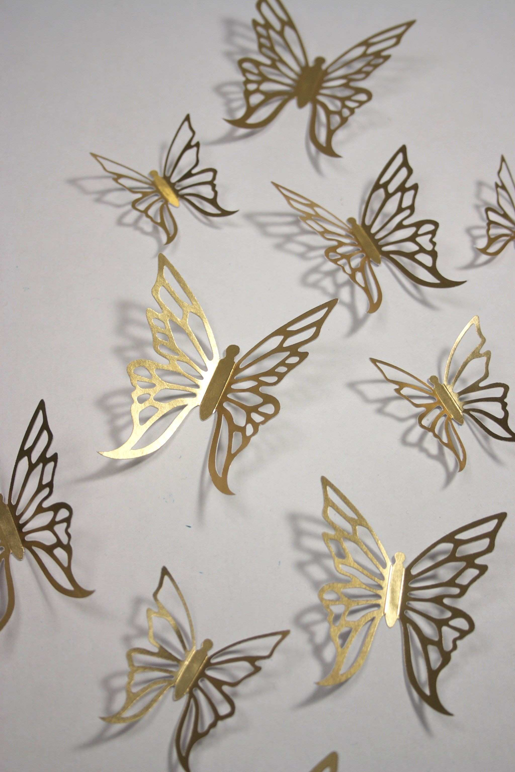Gold butterfly wall stickers Beautiful for weddings