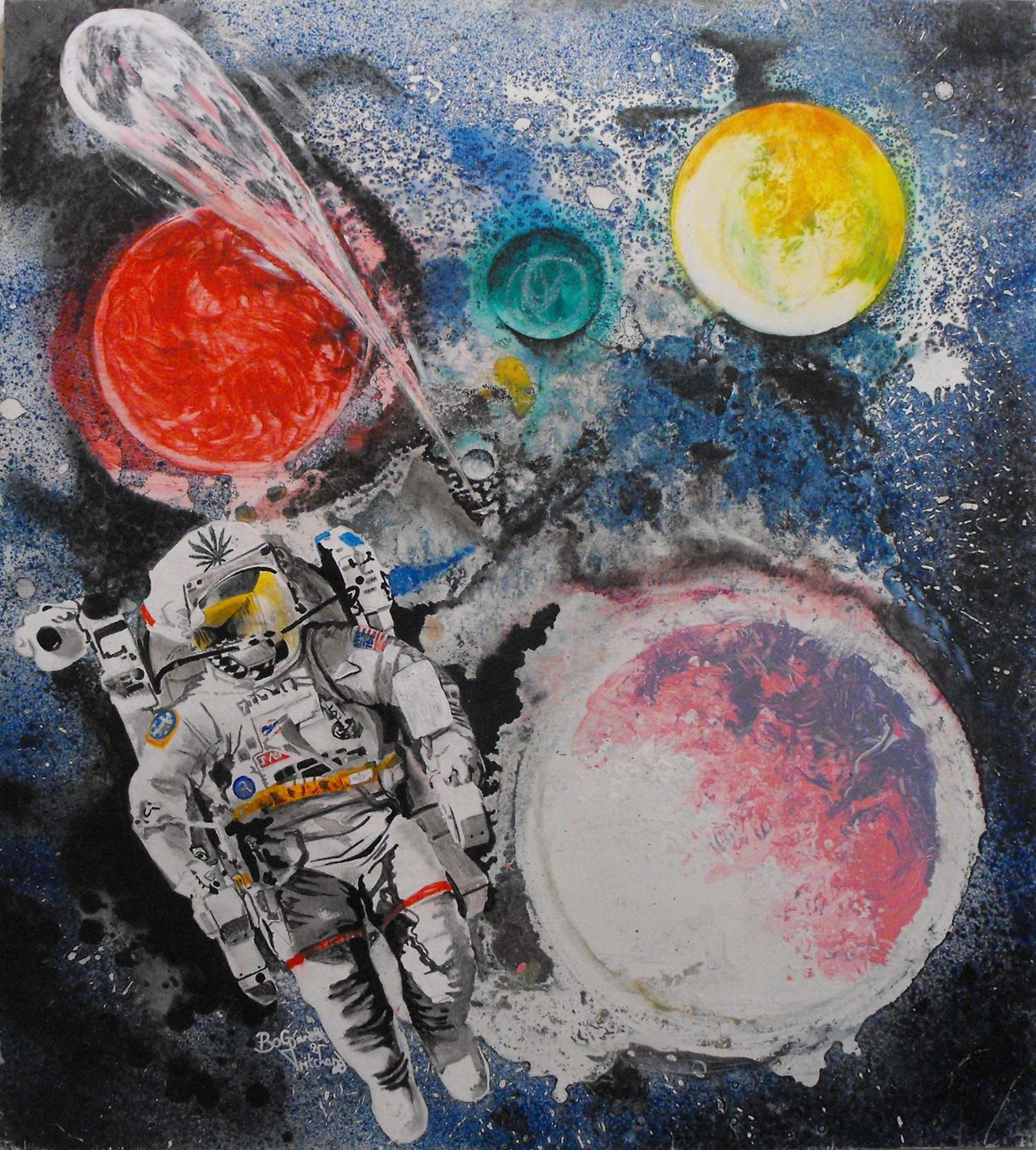 space acrylic painting cool art Pinterest