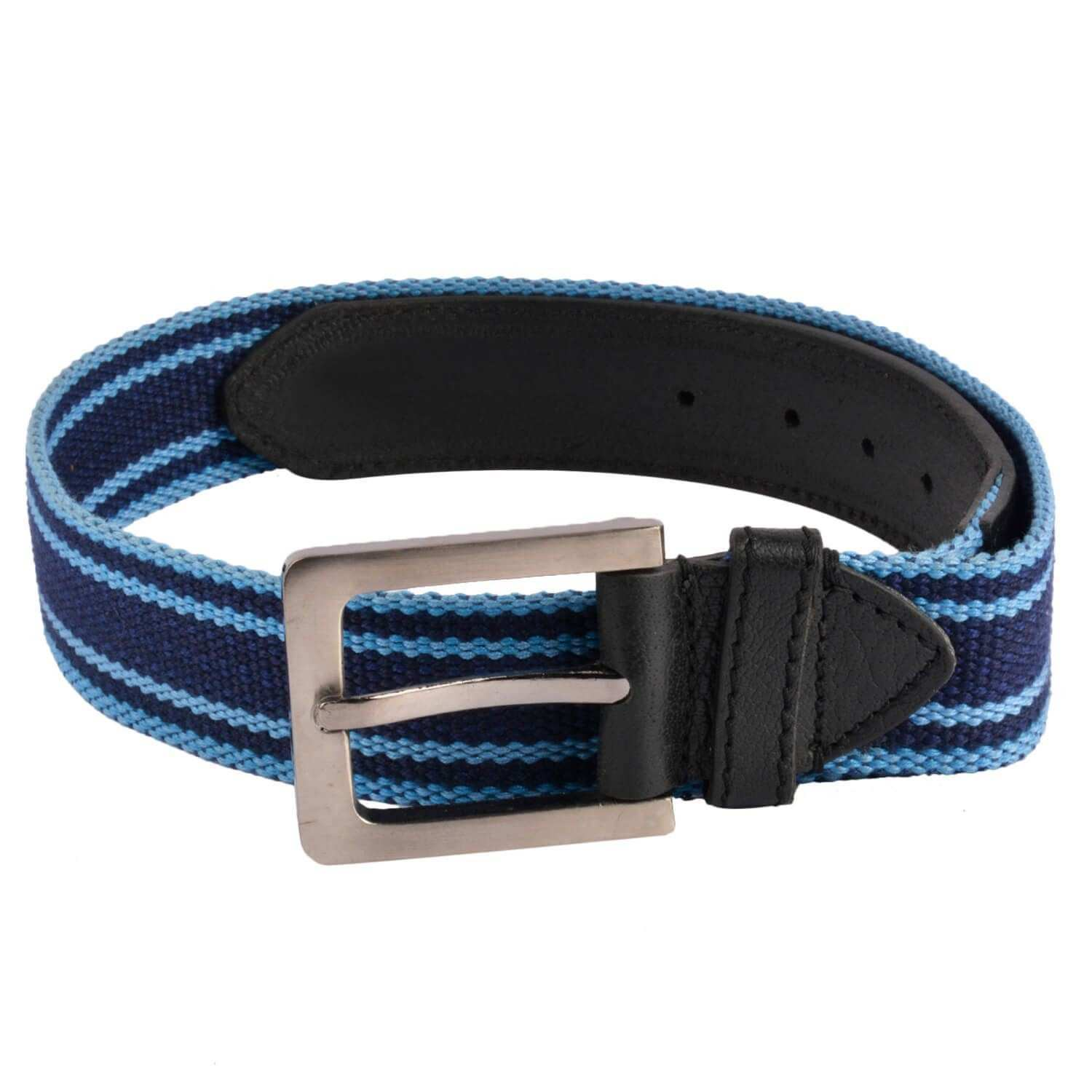 Baluchi Black Canvas Casual Belts Buy line at Low Price in India