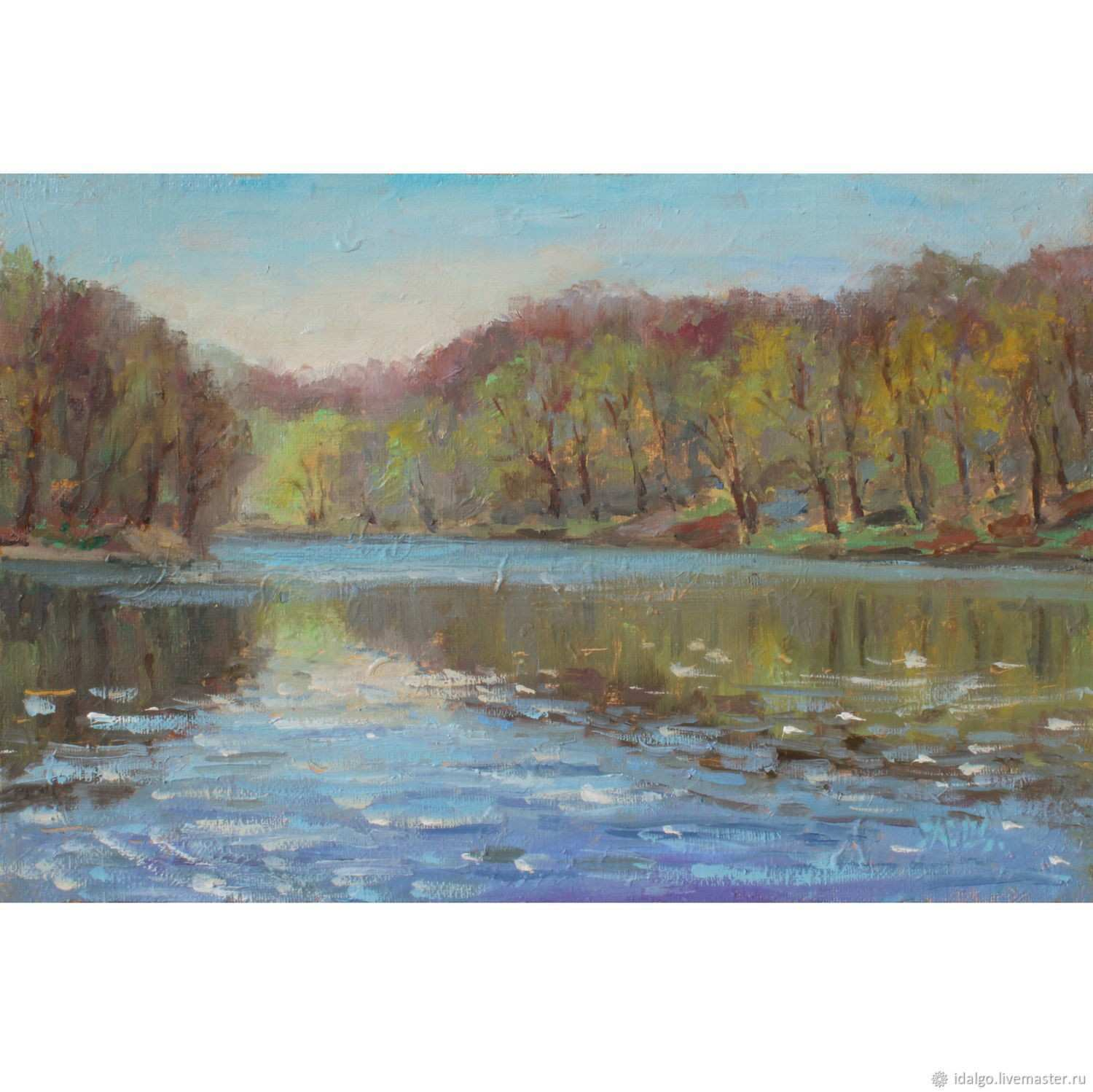 Spring etude on a lake oil on canvas prints – shop online on
