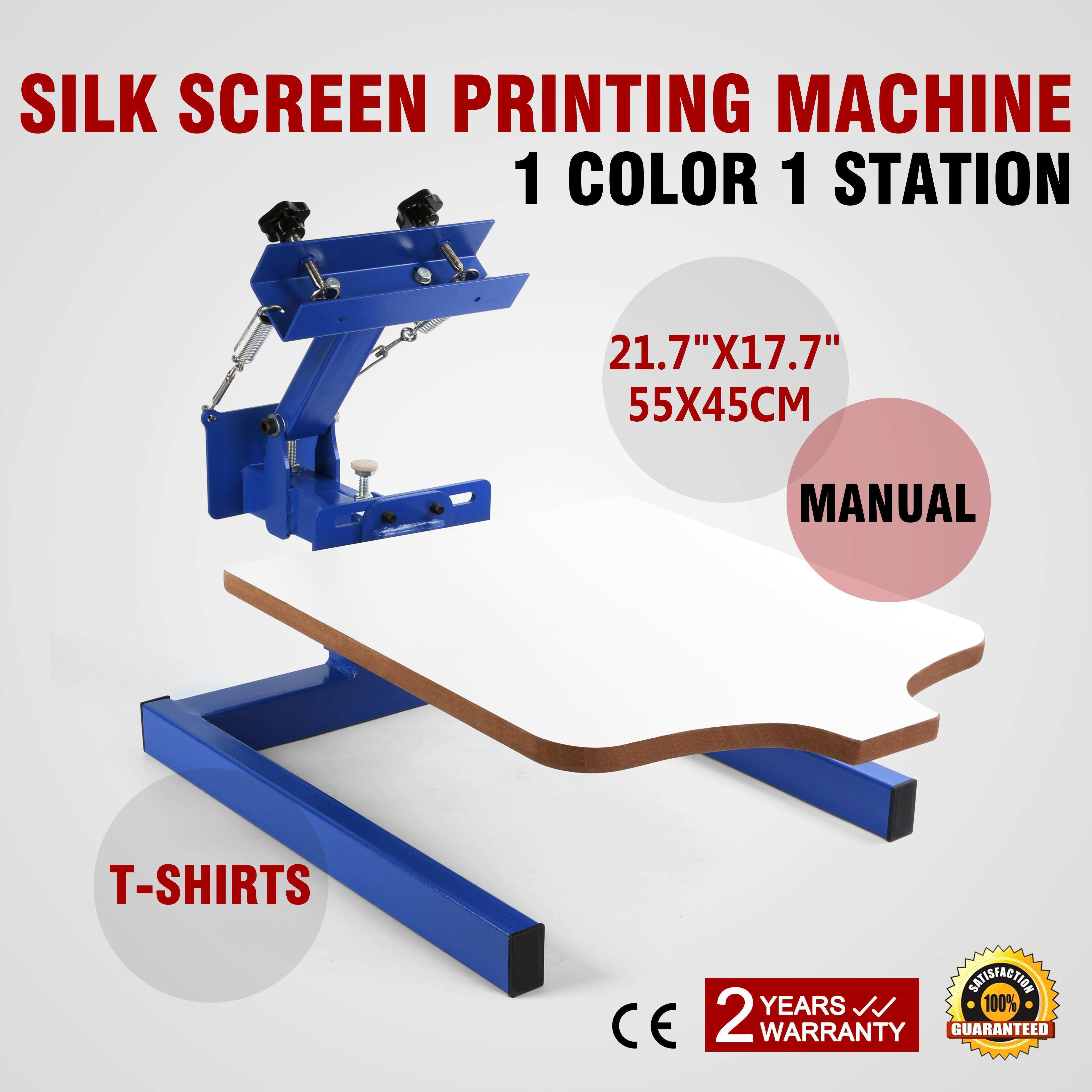 Single Color Screen Press Printing Machine W Removable Pallet