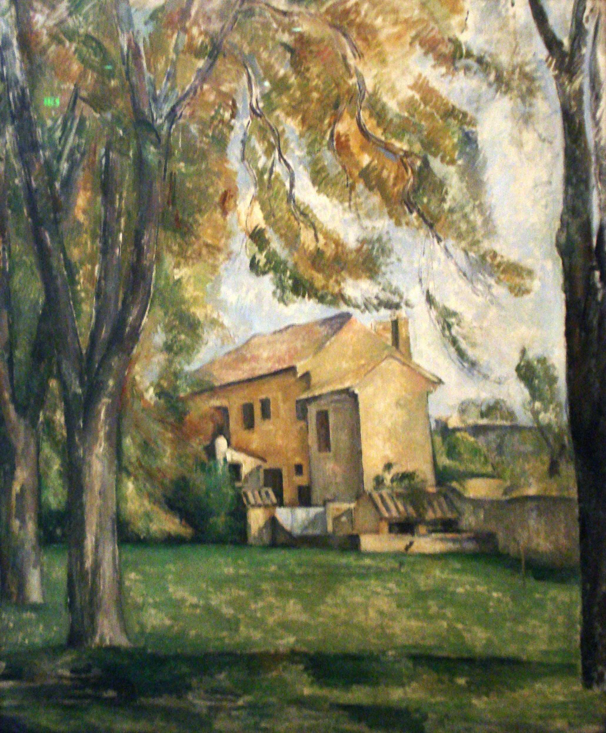 Farmhouse and Chestnut Trees at Jas de Bouffan by Paul Cezanne 1878