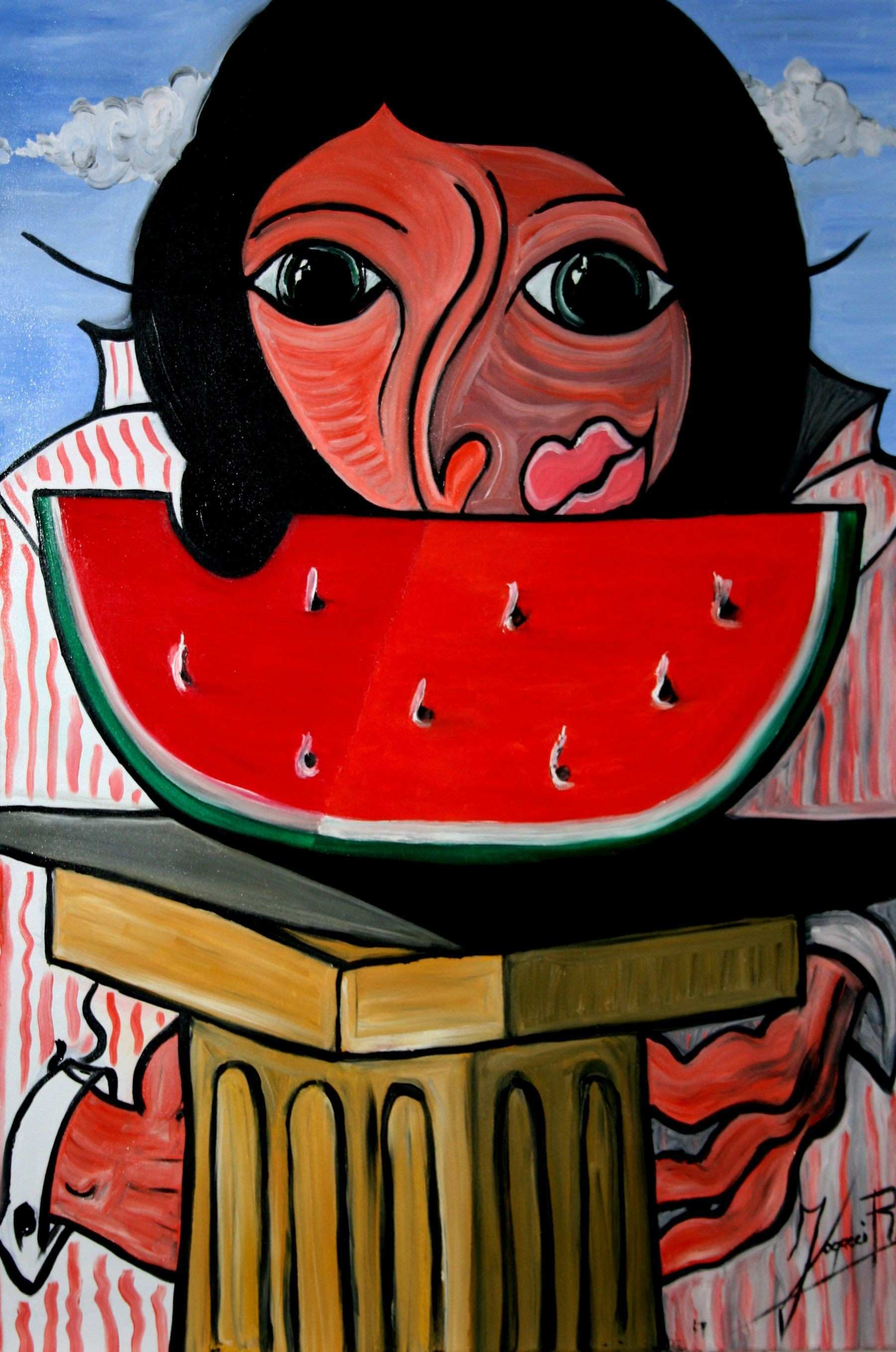 Work of Rubens Fogacci Title The Watermelon Dimensions 50x70