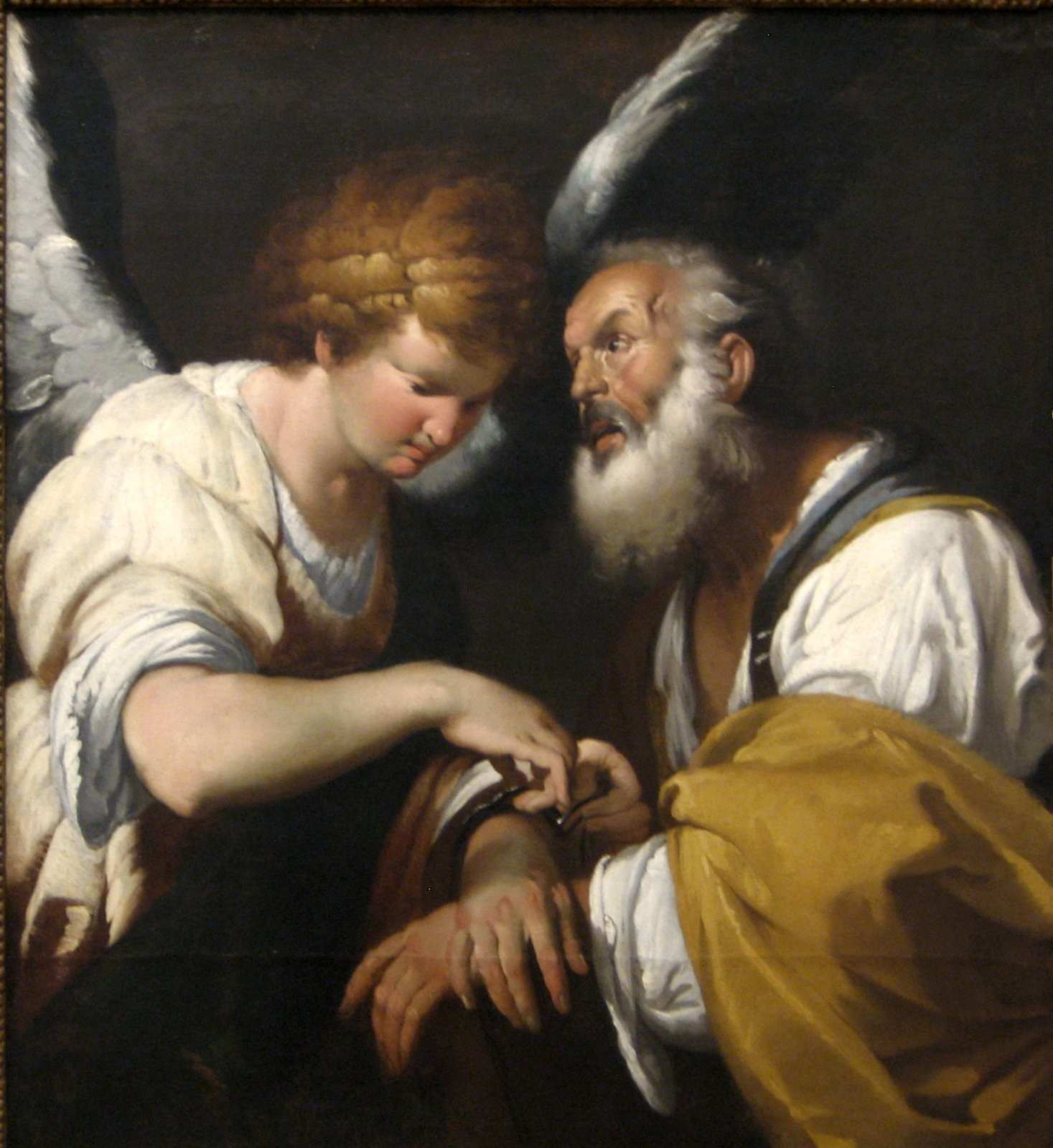 File The Release of St Peter oil on canvas painting by Bernardo