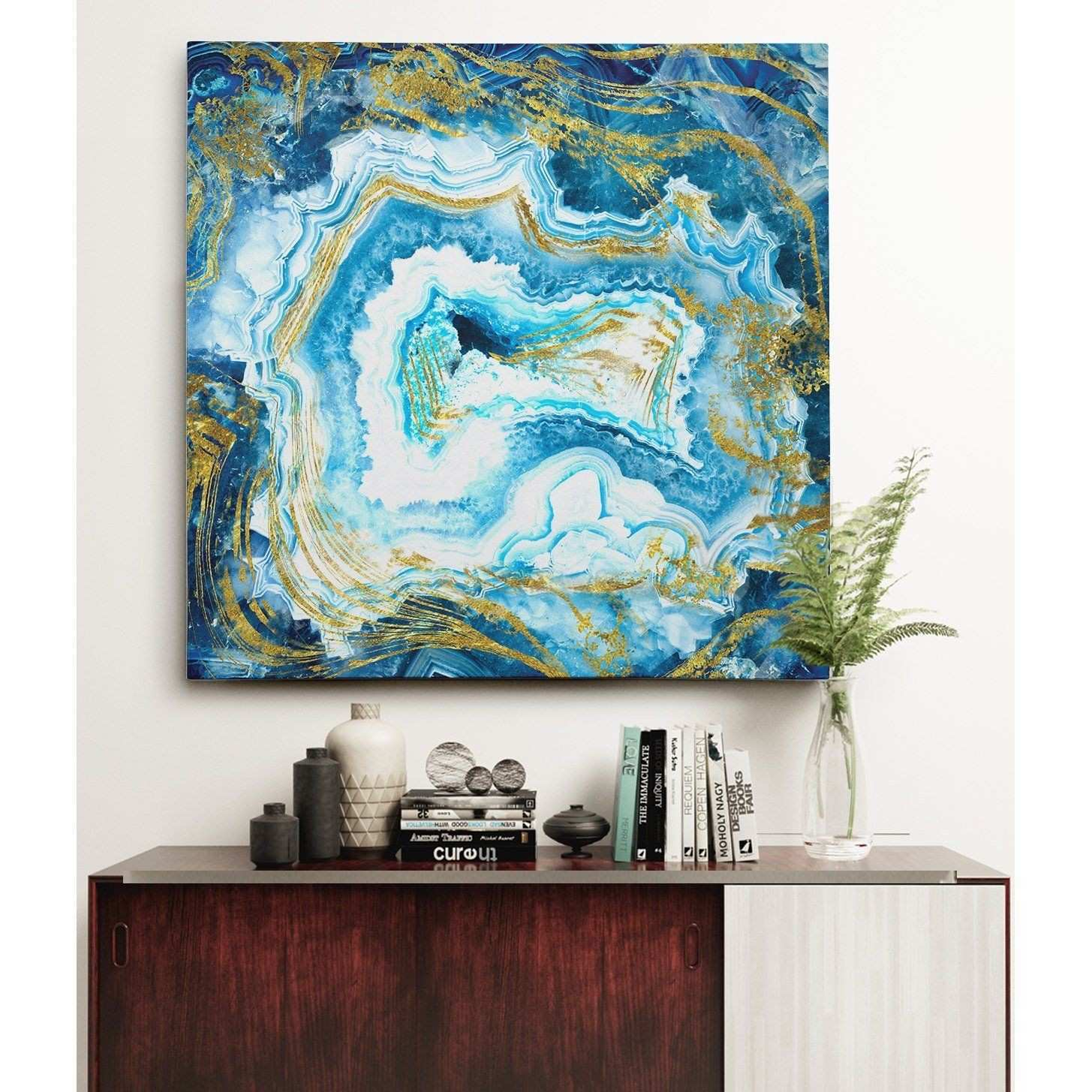"""Twelve Part Shrines"""" Abstract Giclee Canvas Prints"""
