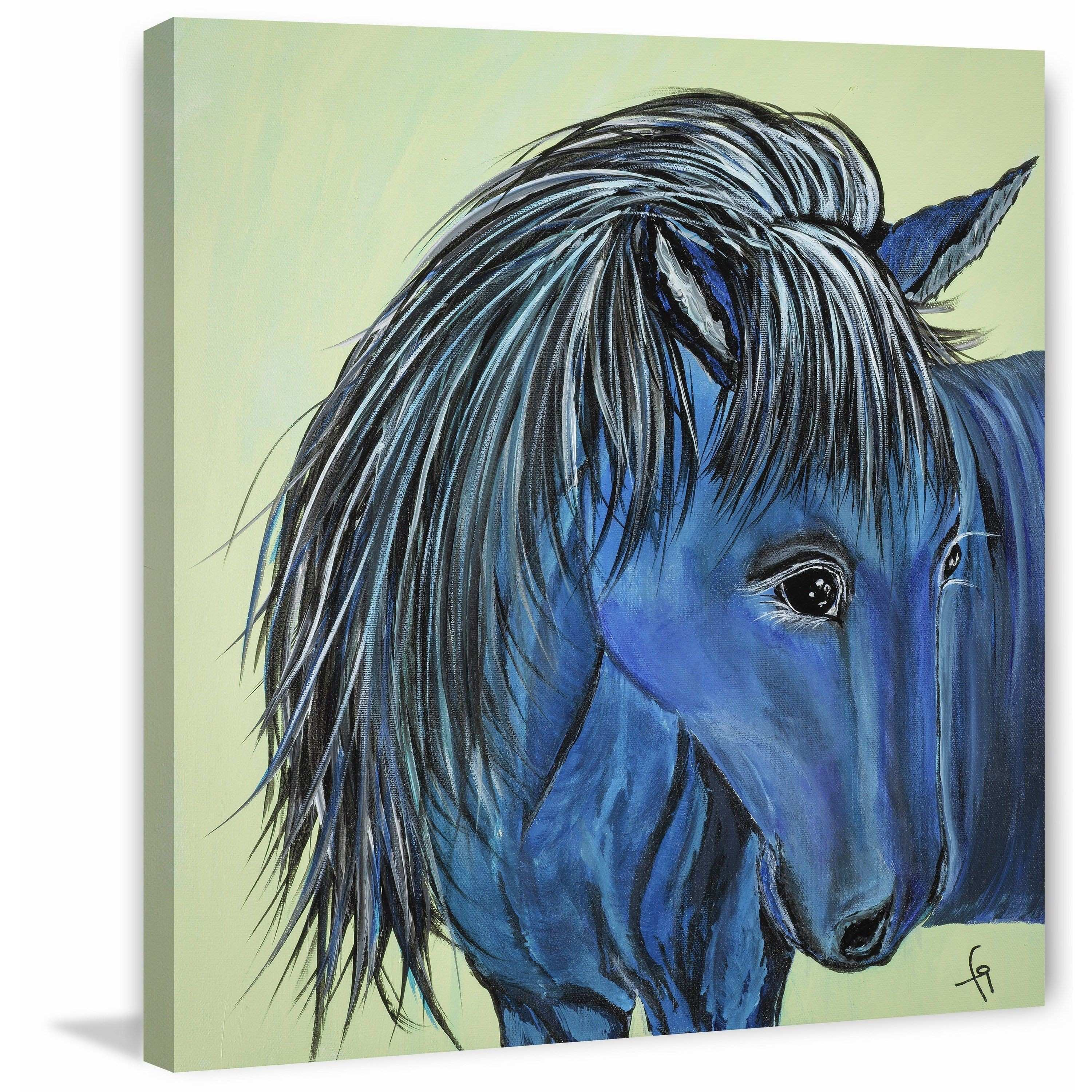 Cookie Connemara Horse Painting Print on Wrapped Canvas