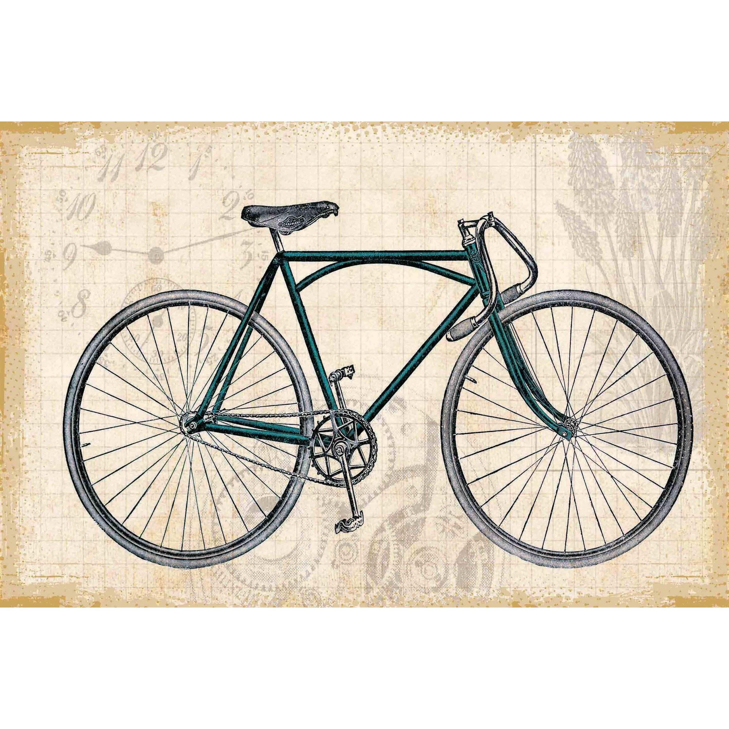 """Marmont Hill """"Green Bike"""" Painting Print on rowerowo"""