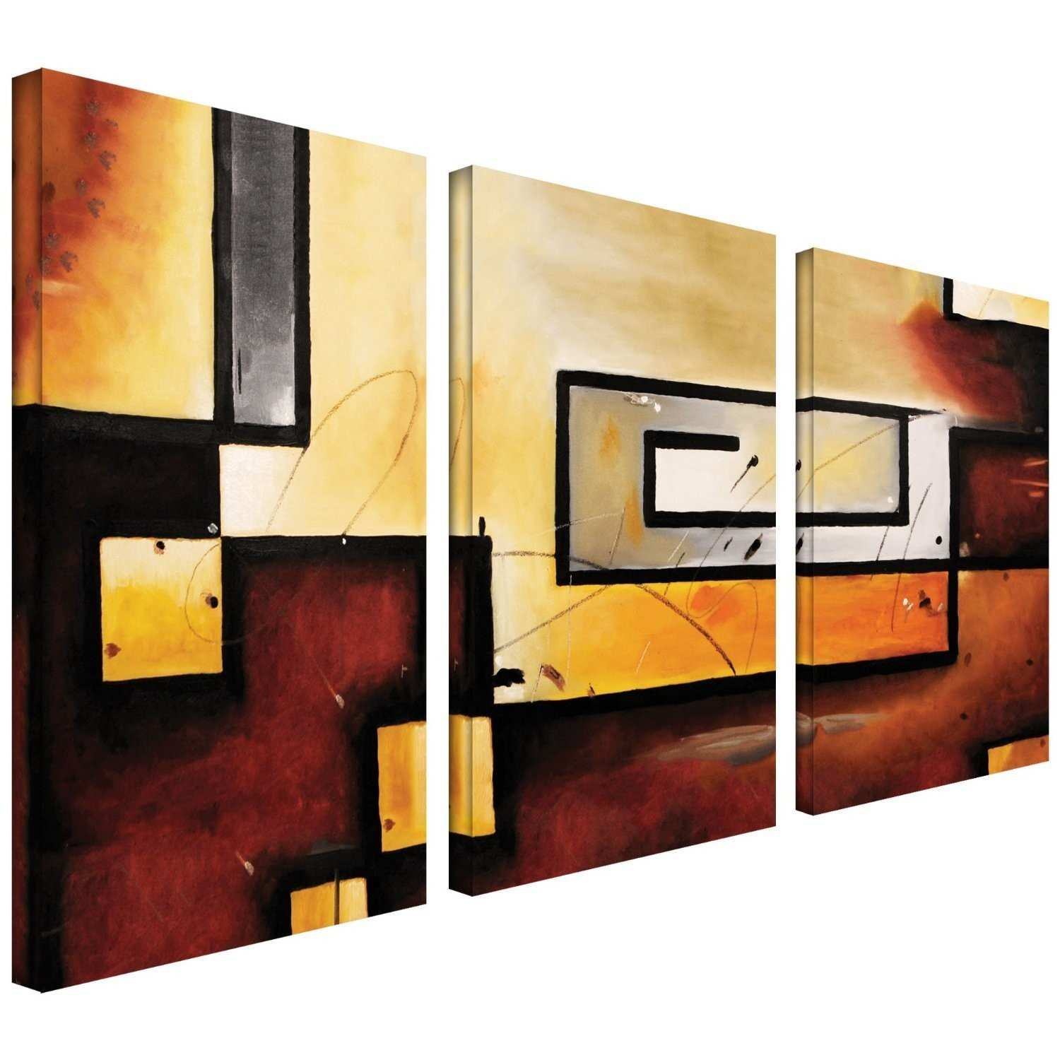 Luxury Three Piece Wall Art Sets Collection Wall Art Collections