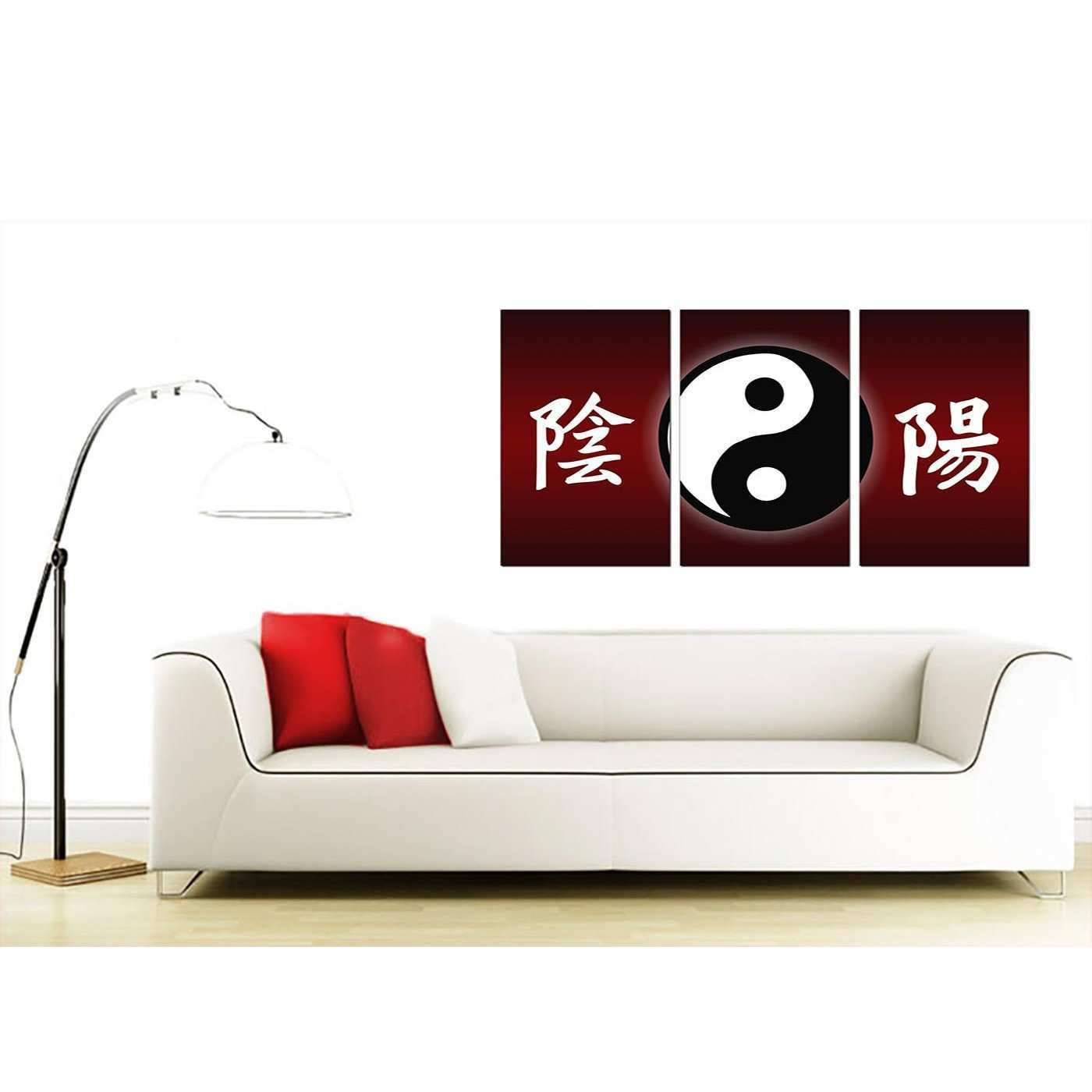 Oriental Canvas Prints Set of 3 for your Living Room