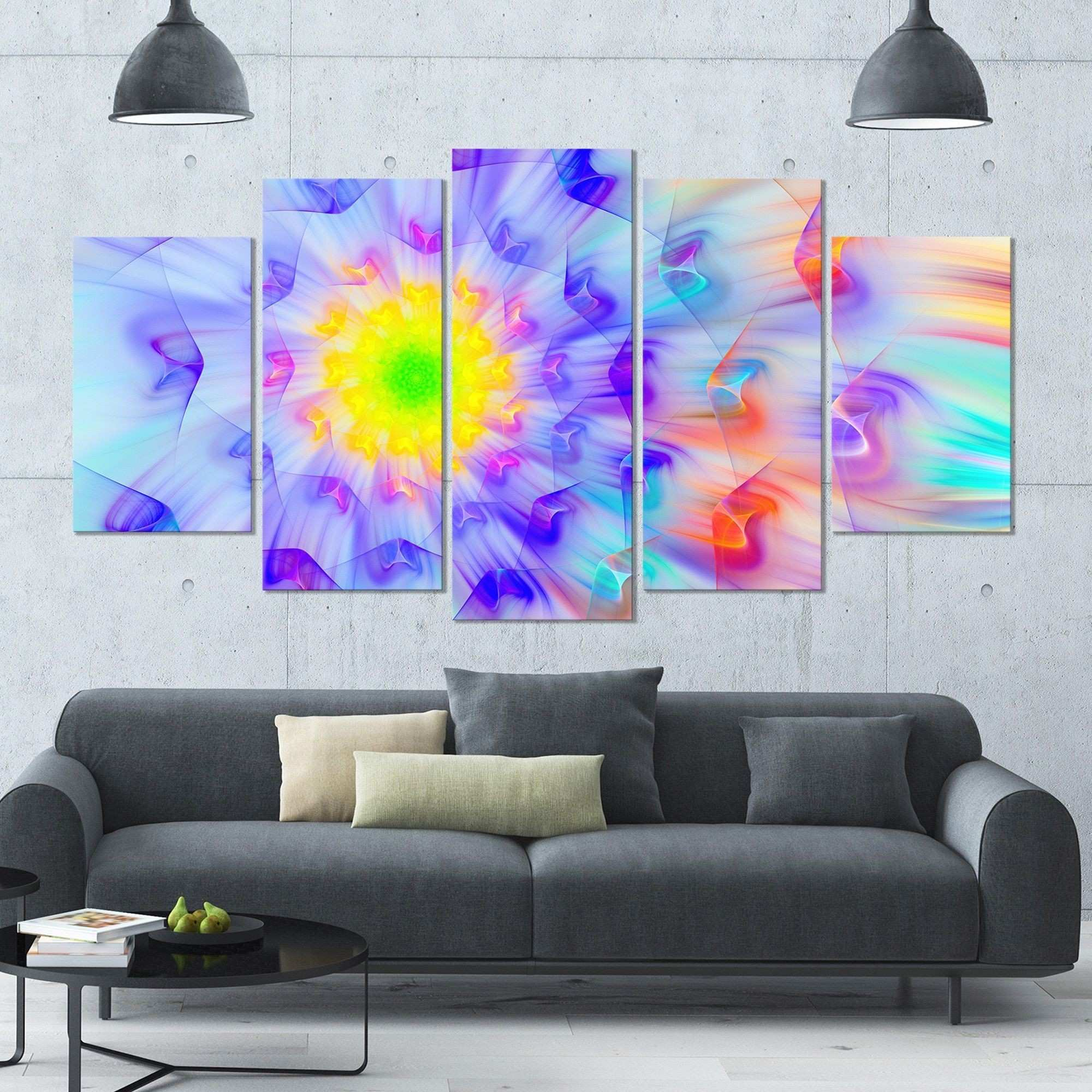 DESIGN ART Designart Alien Fractal Flower Floral Canvas Wall