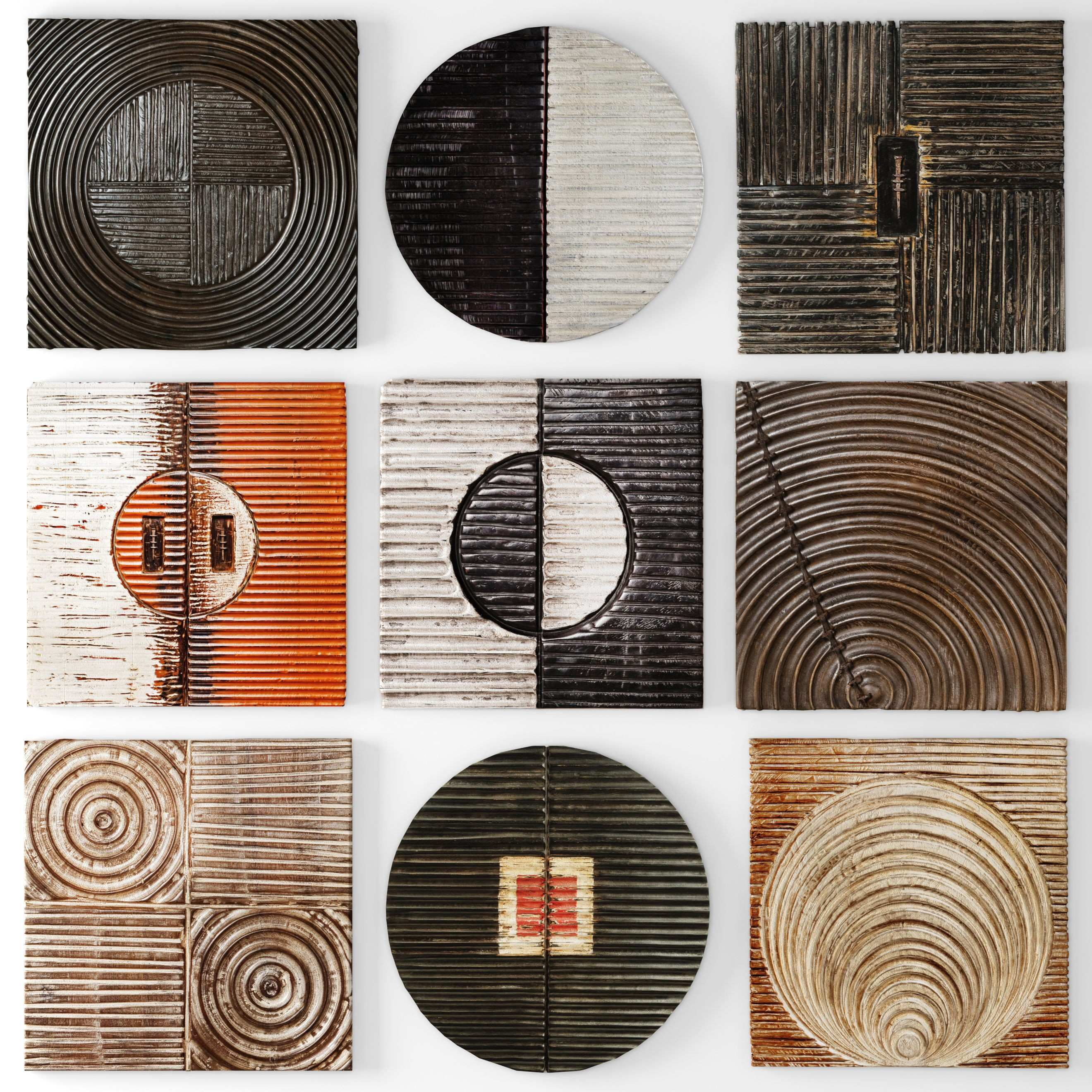 3D model Collection Wood Wall Sculpture