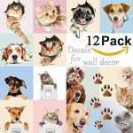 Cat Wall Decor Fresh 3d Cute Dog And Cat Wall Decals For Kids Rooms Fun Animals Wall Art Of Cat Wall Decor