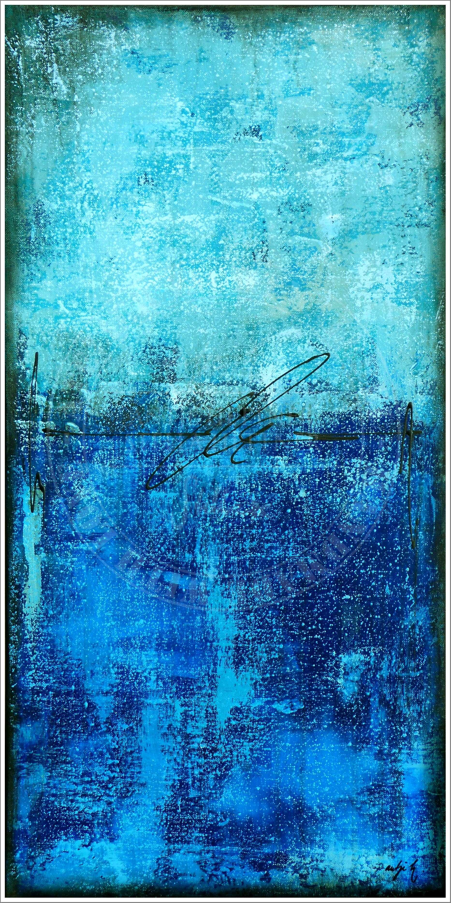 "ocean treasure"" acrylic on canvas by Antje Hettner"