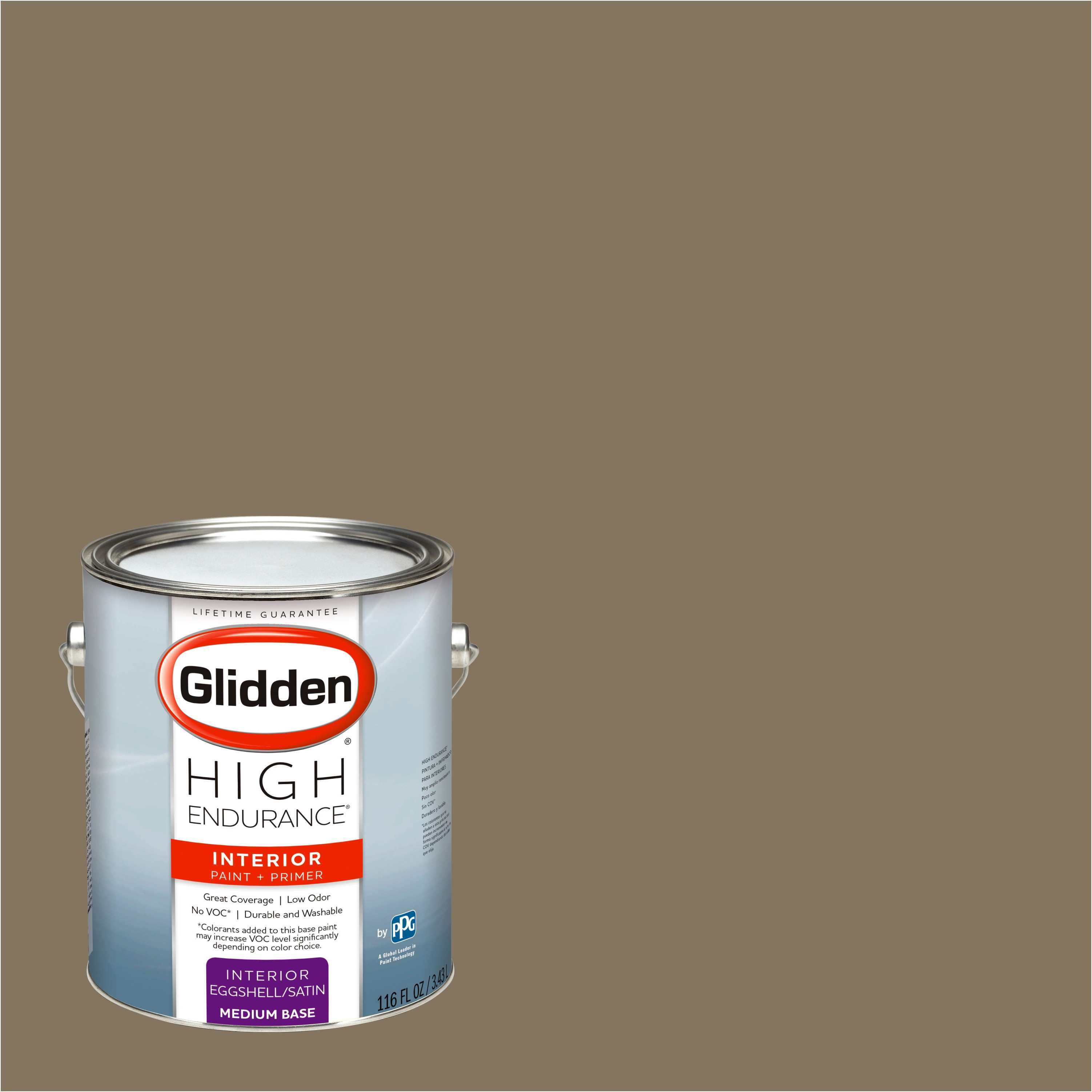Glidden High Endurance Interior Paint and Primer Le Chateau Brown