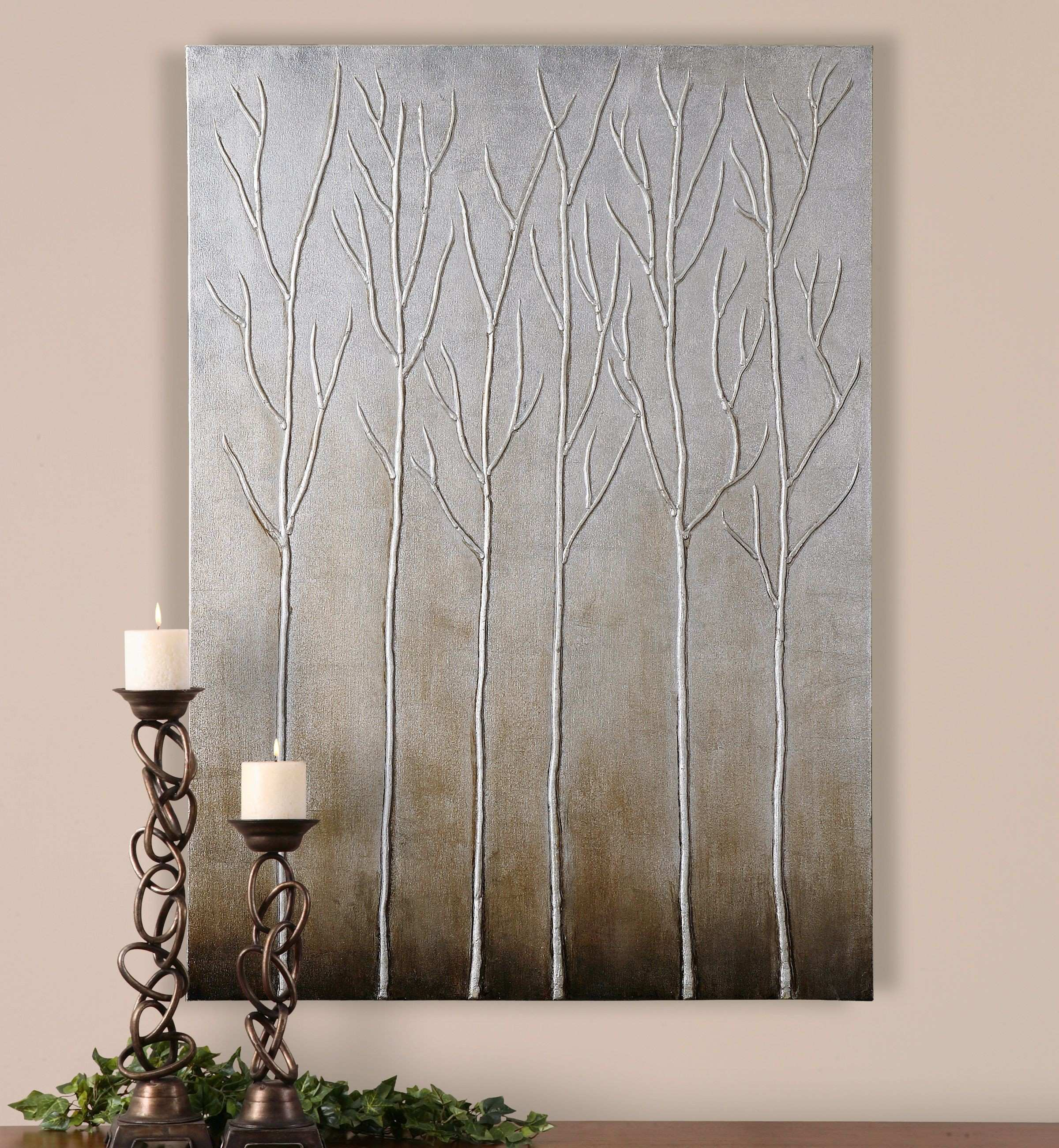 Uttermost Sterling Trees Hand Painted Art Crafts