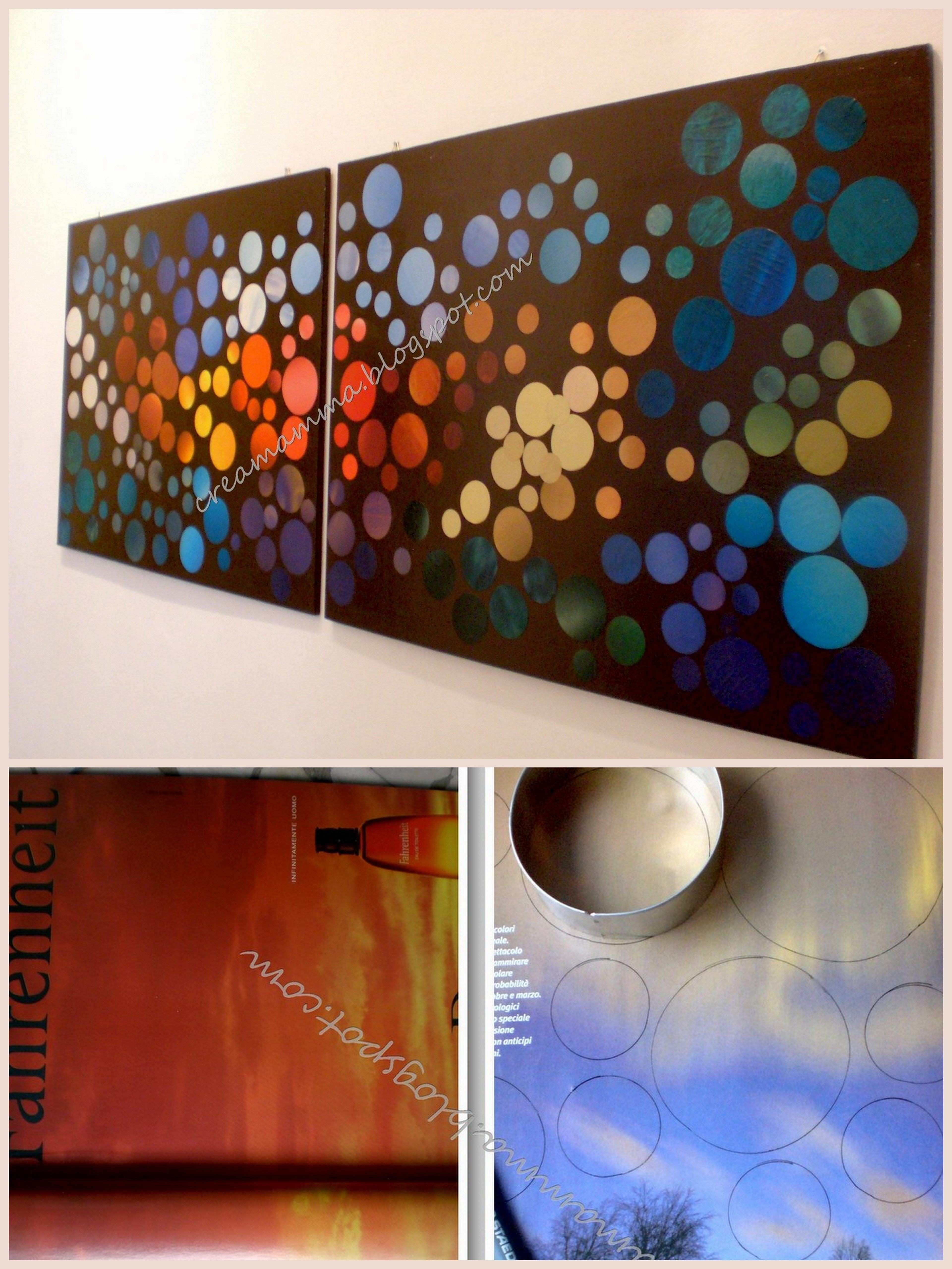 DIY Wall Art from Magazines interesting want to do this w just