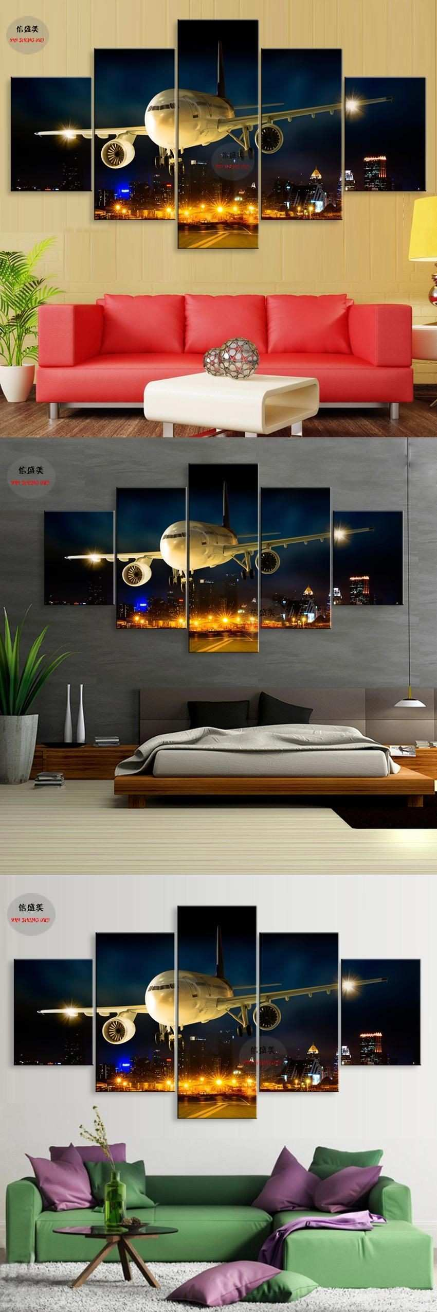 5 Piece Canvas Art Wall For Living Room Painting Home Decor