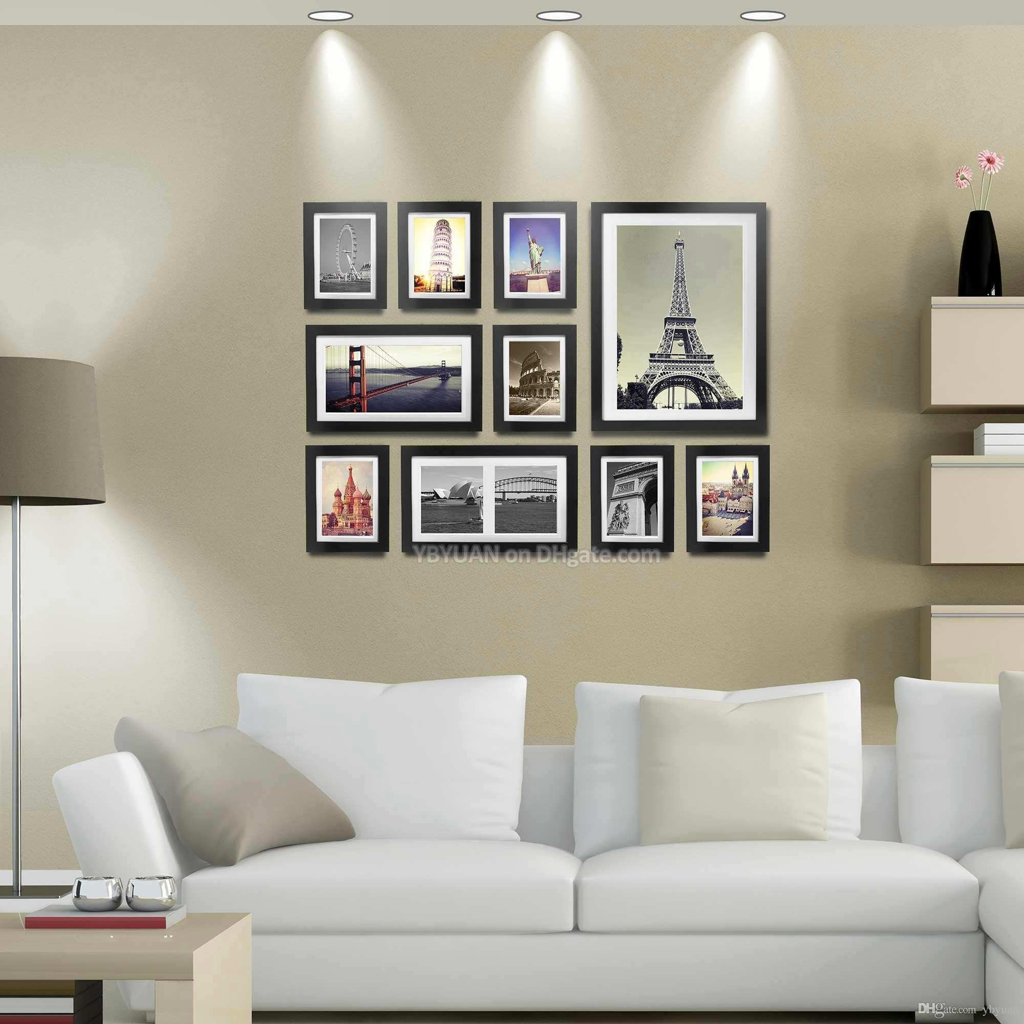 Wood Frame Gallery Wall Modern Style Flat Moulding Border