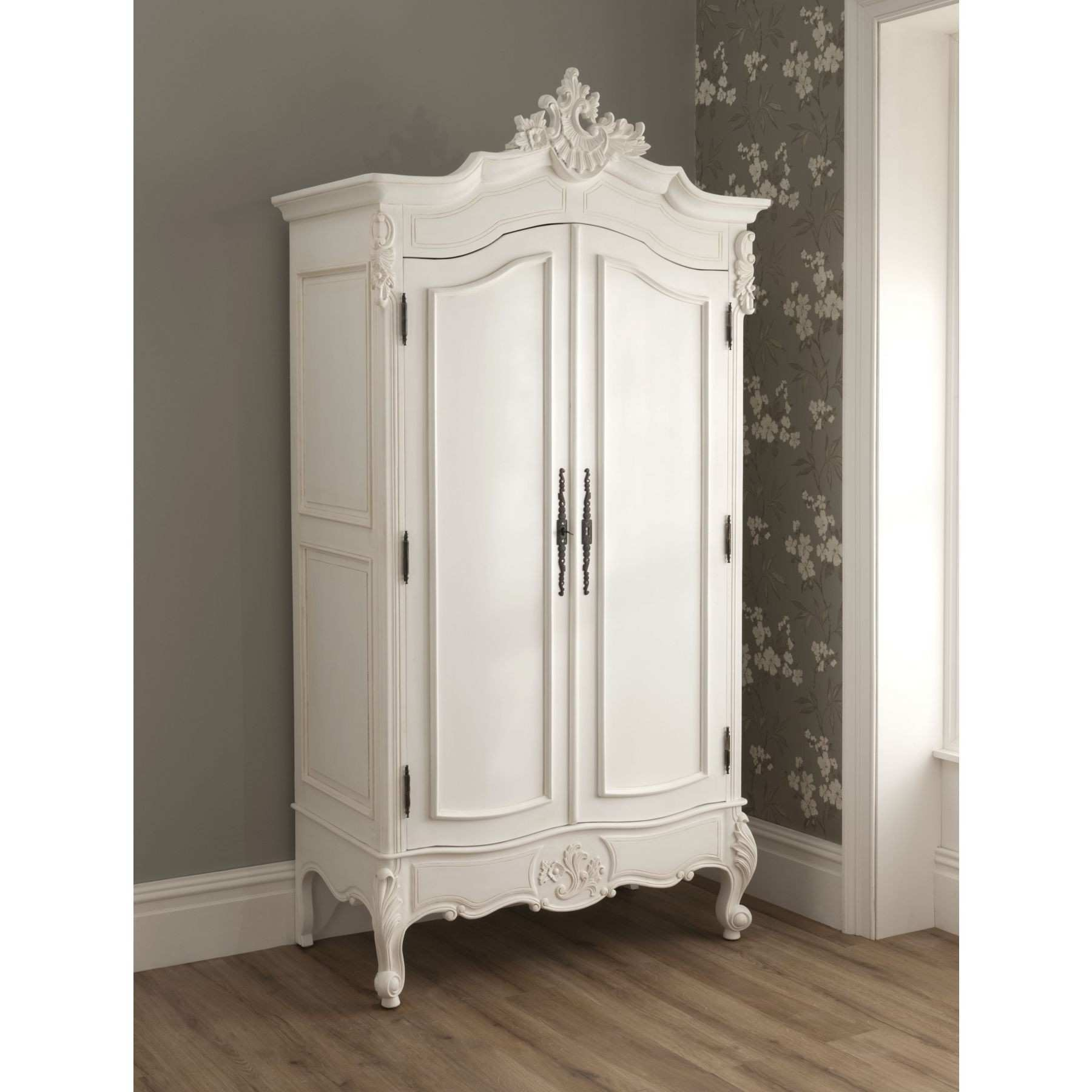 Cheap Paint New Bedroom Furniture Shabby Chic Vintage Armoire Wooden Classic