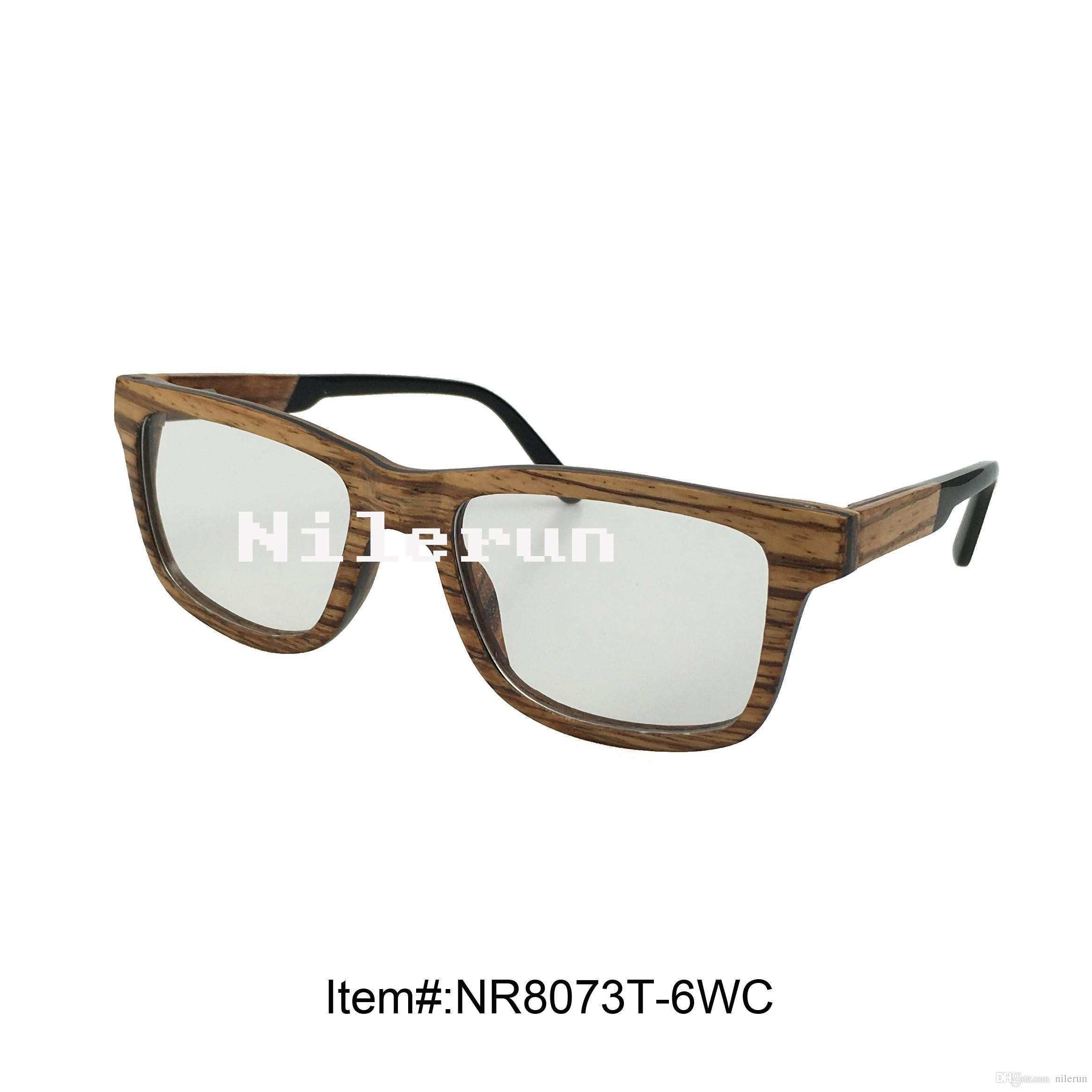 Fashion Square Hand Made Zebra Wood Frame Optical Glasses Boots