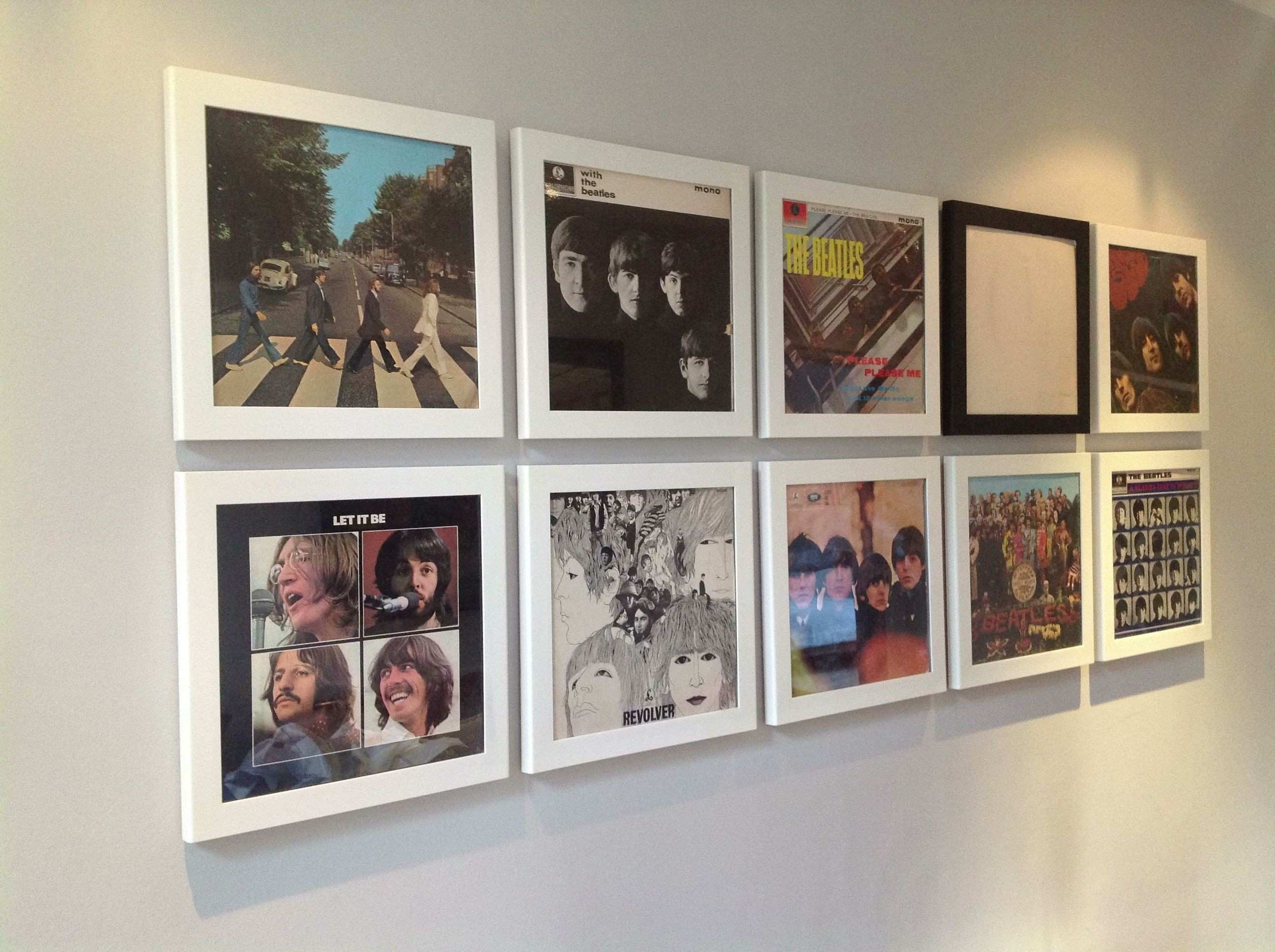 Great idea for cheap wall art old album covers in frames