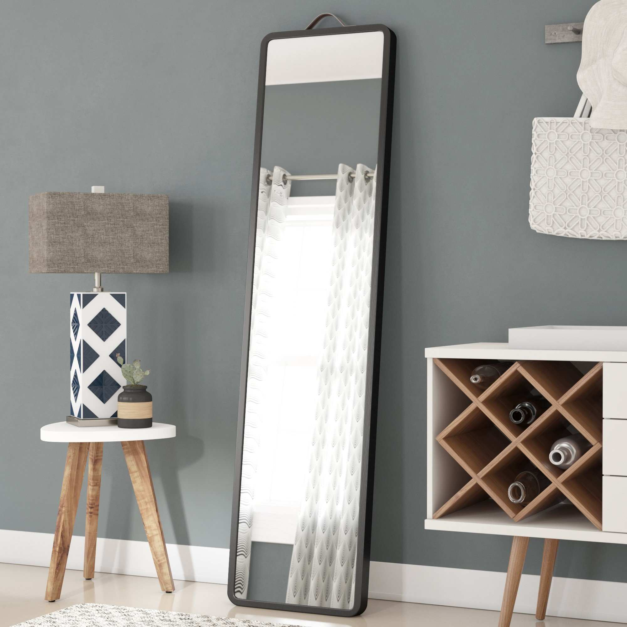 Latitude Run Modern Floor Leaning Full Length Mirror & Reviews