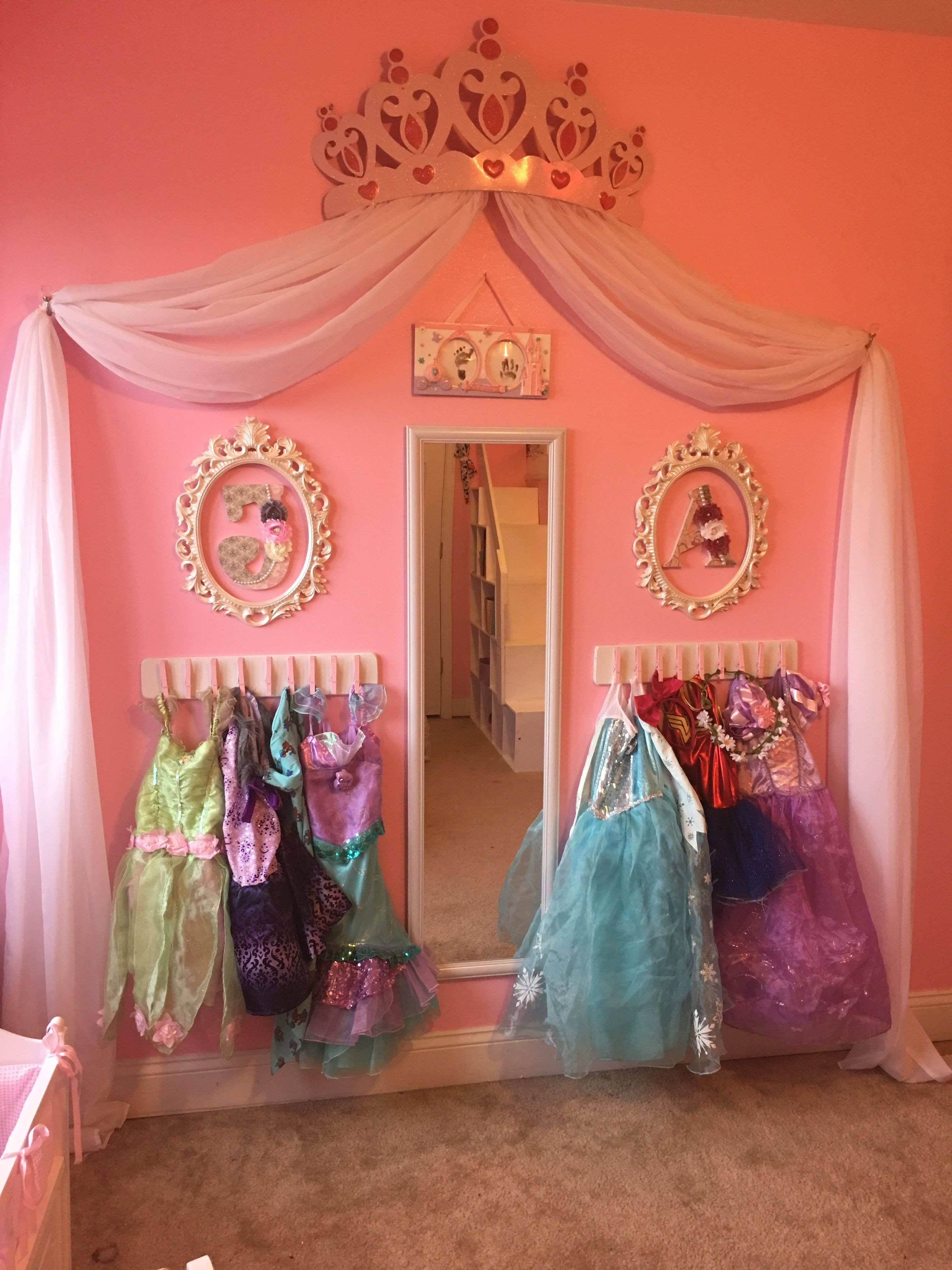 Princess dress up storage diy Cheap and super easy Frees space by