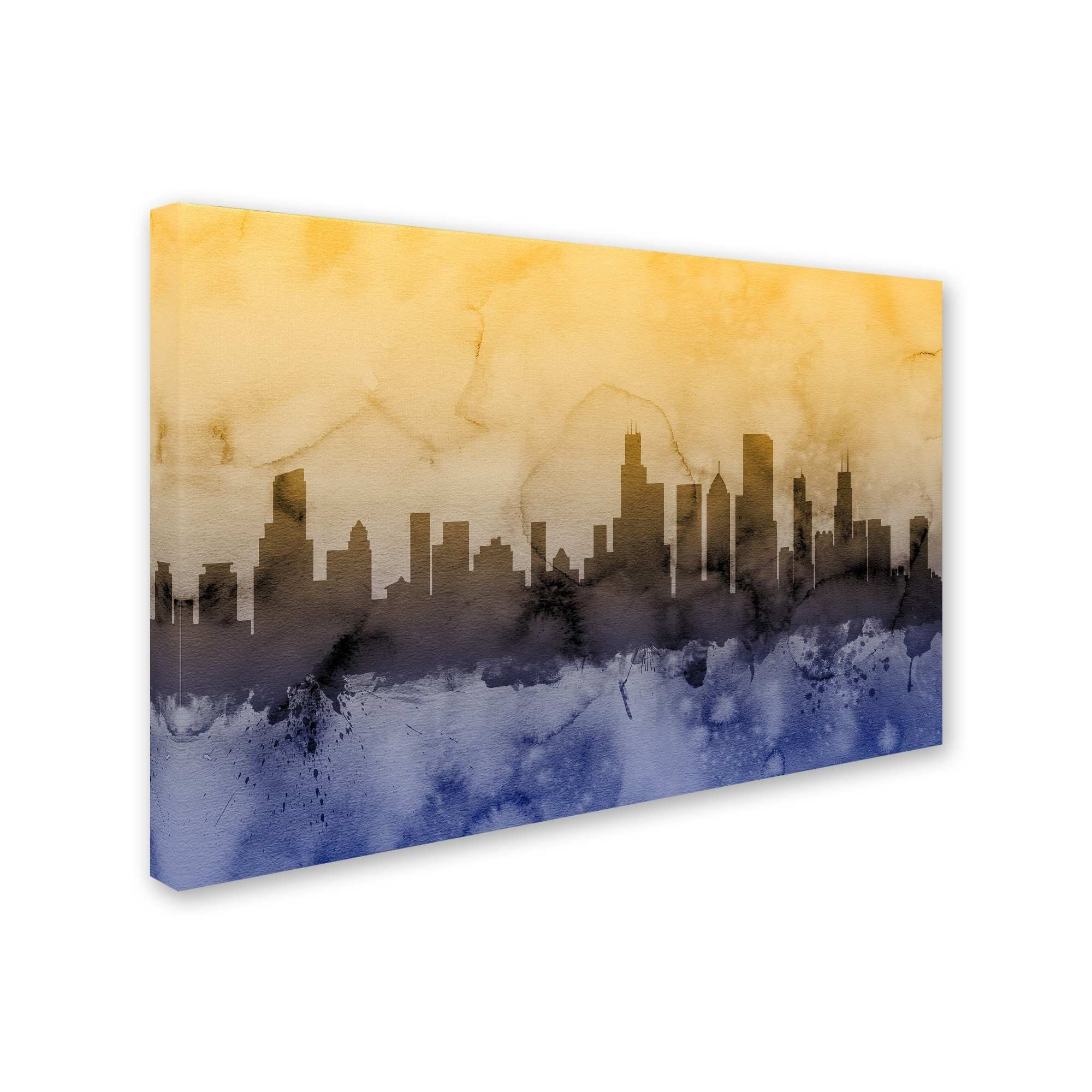 Old Fashioned Chicago Flag Wall Decor Ensign The Wall Art