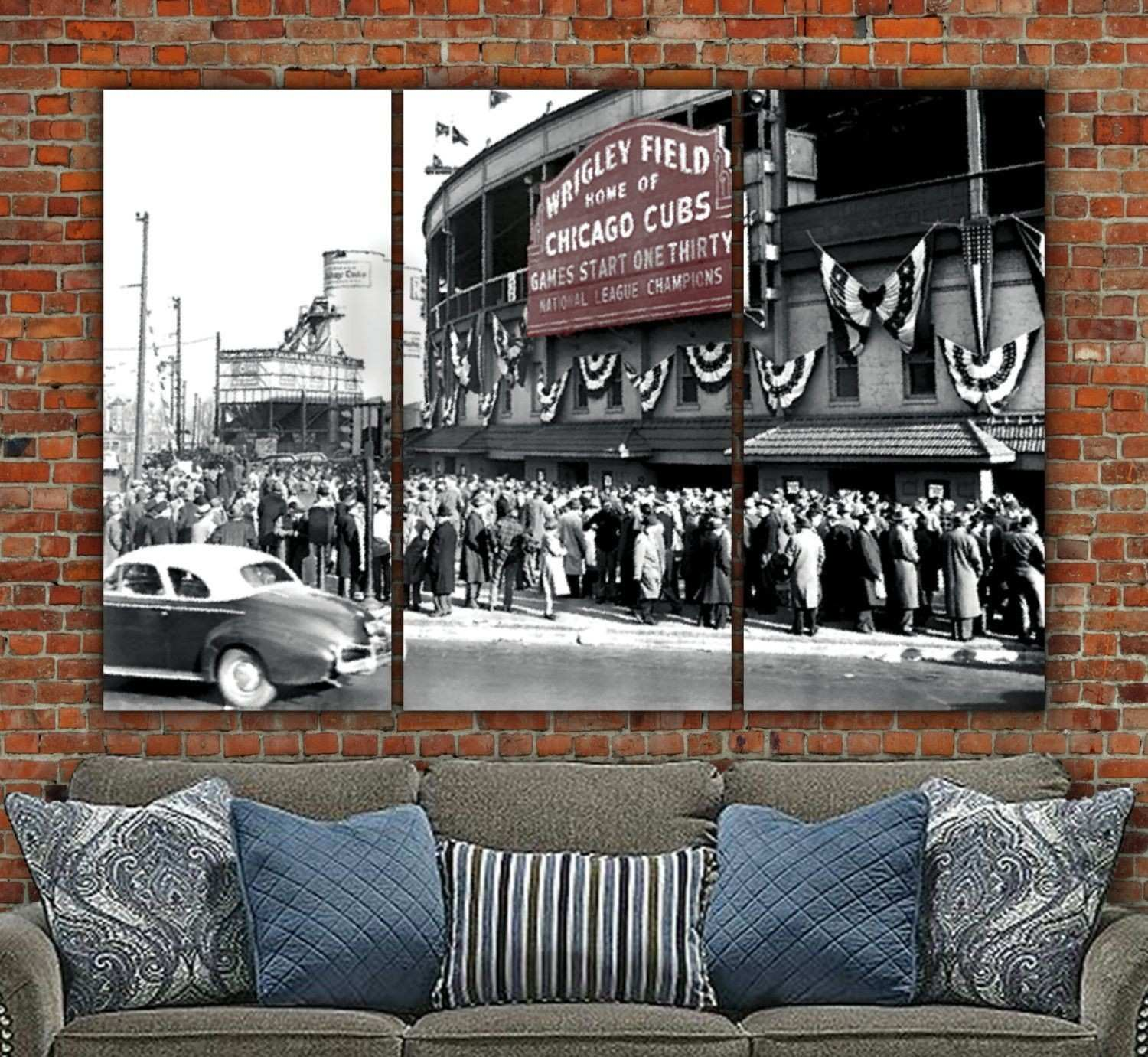 Chicago Cubs Wrigley Field 1945 World Series Canvas Inspiration