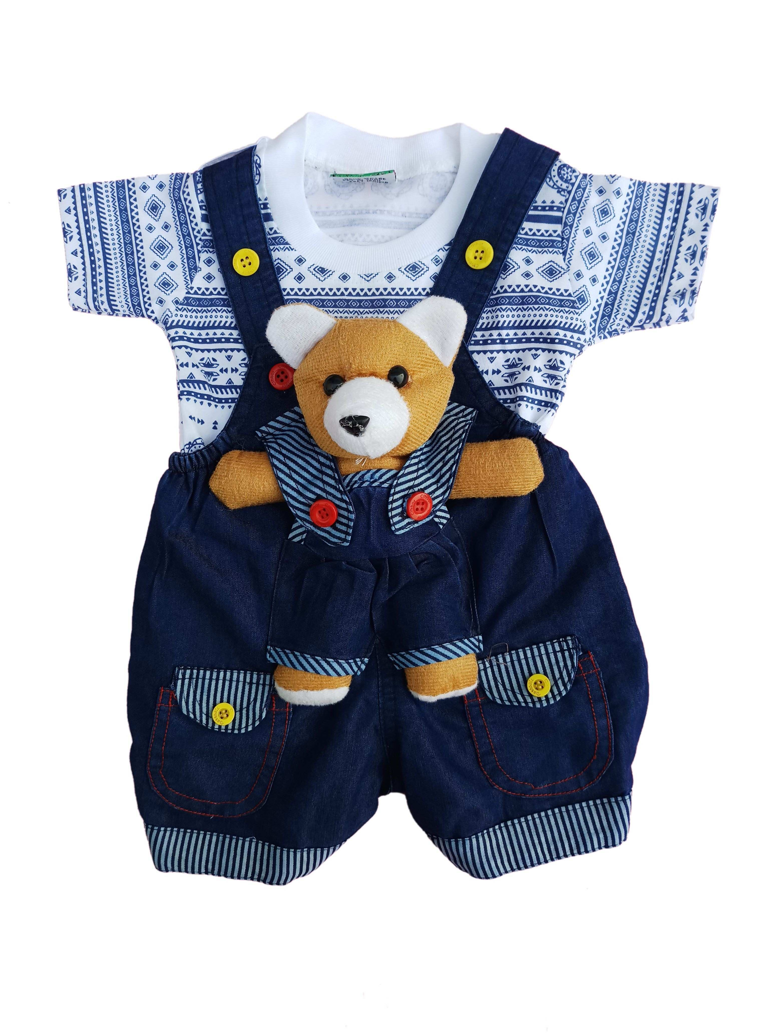 City Boy Kids Wear I Top & Bottom Dungaree Set For Baby Boy Buy