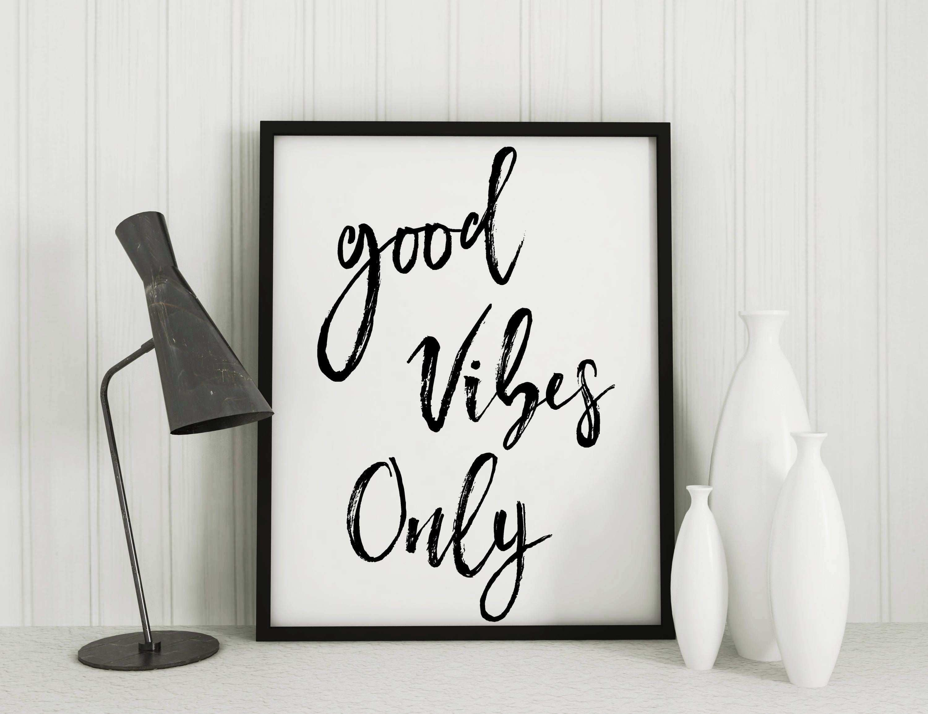Good vibes only Yoga Print home decor wall art instant