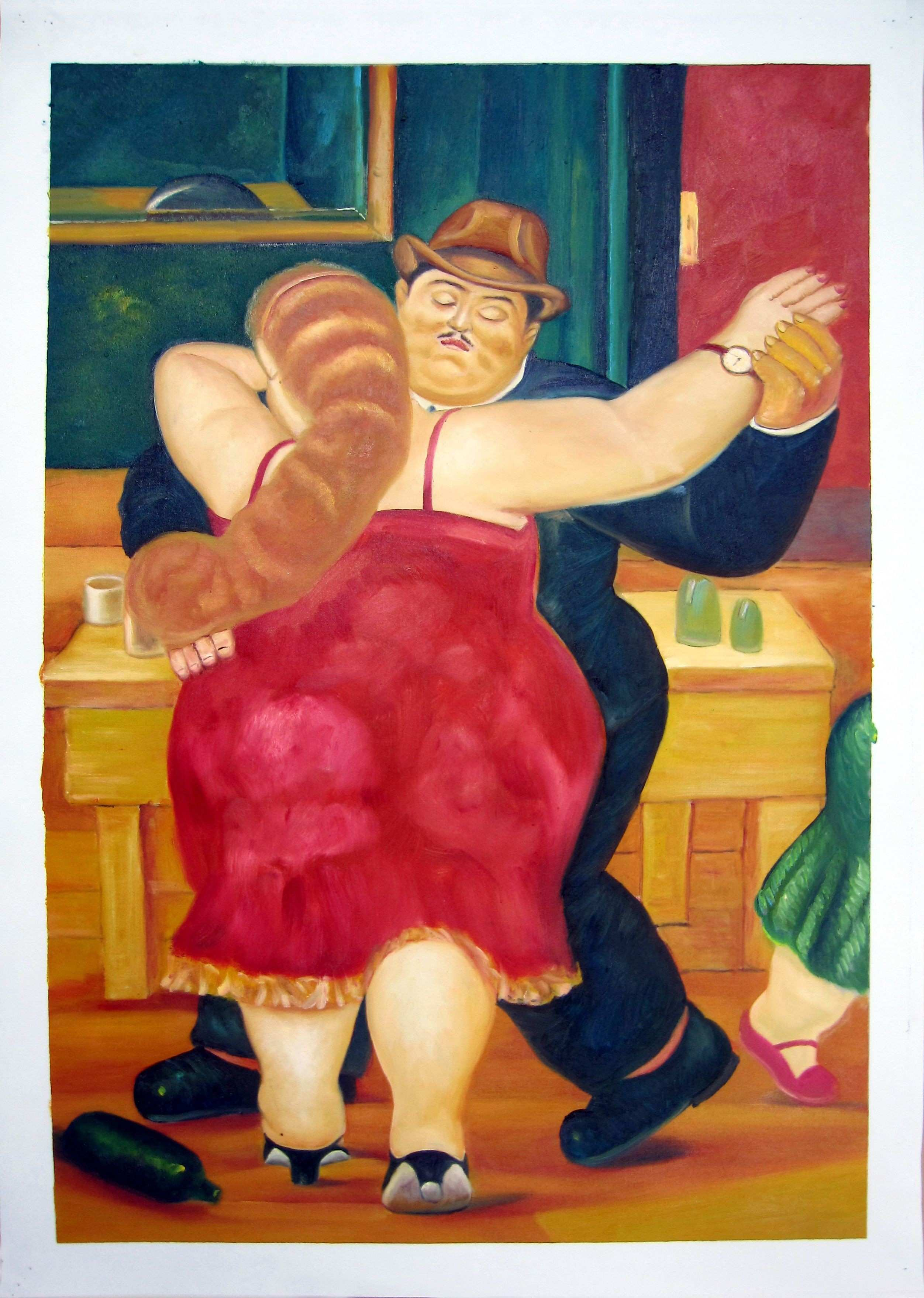 "Chinese Four Seasons Wall Art Best Of 24"" by 36"" Reproduction Of Famous Artists Fernando Botero"
