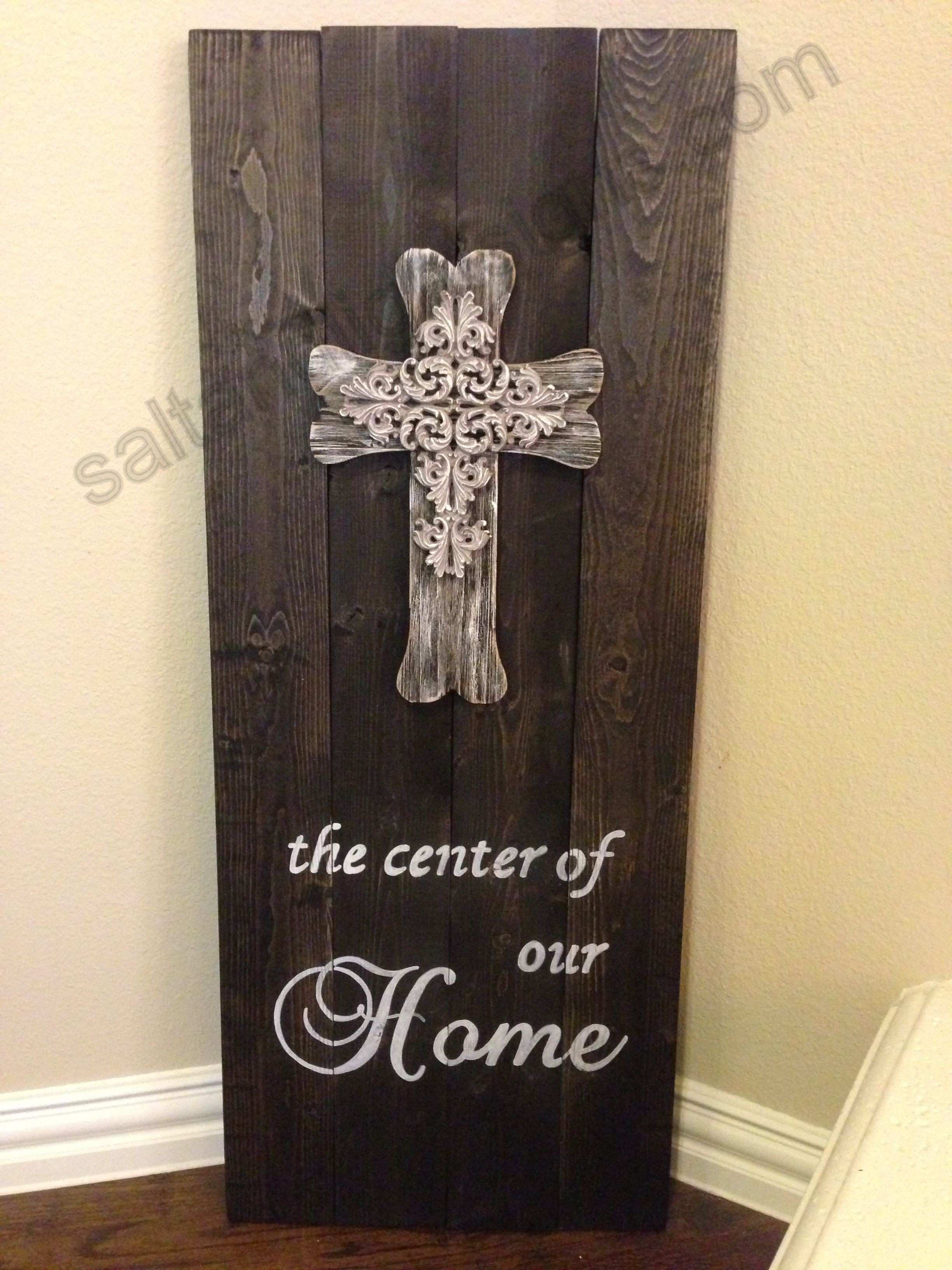 saltandlightsigns Wooden Cross Sign Home Christian