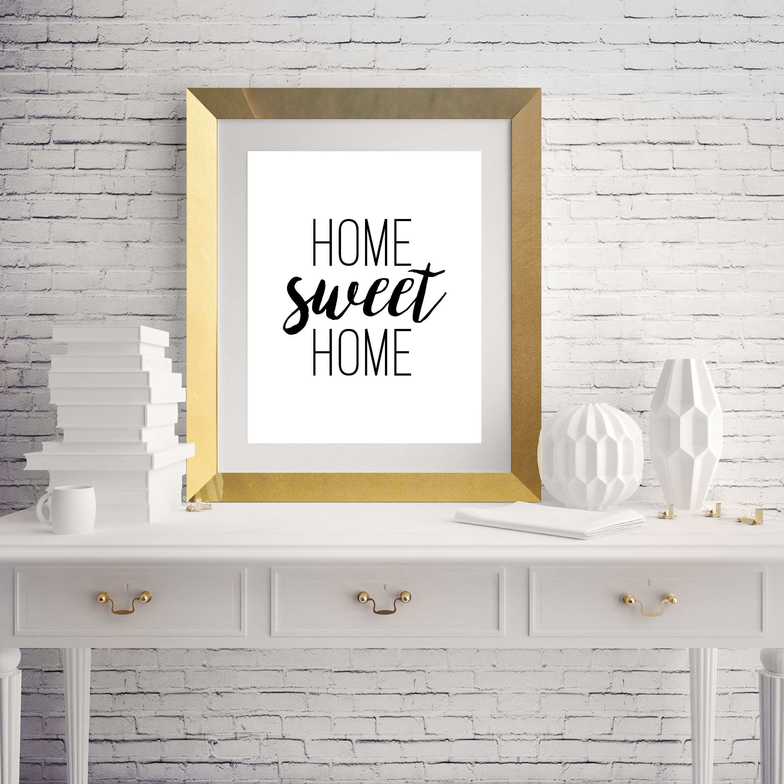 Home Sweet Home Typography Wall Art Home Decor Print