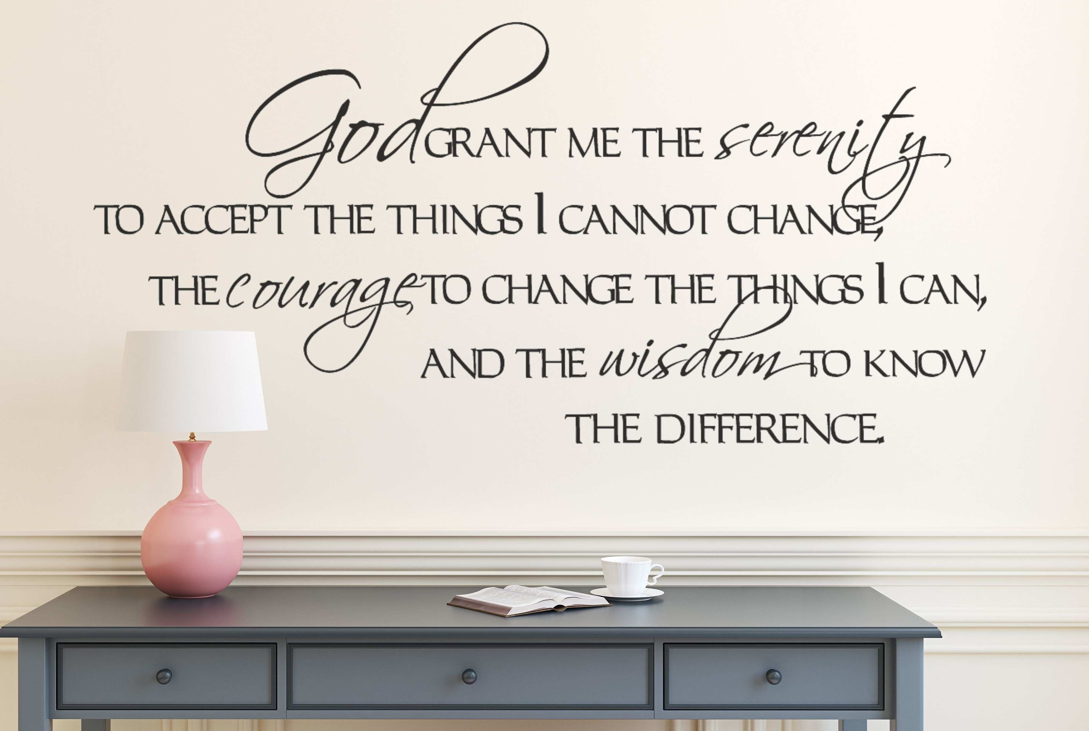 Be Still and Know Christian Wall Decal Amandas Designer Decals