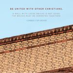 Christian Word Art For Walls Beautiful Be United With Other Christians A Wall With Loose Bricks Is Not Of Christian Word Art For Walls