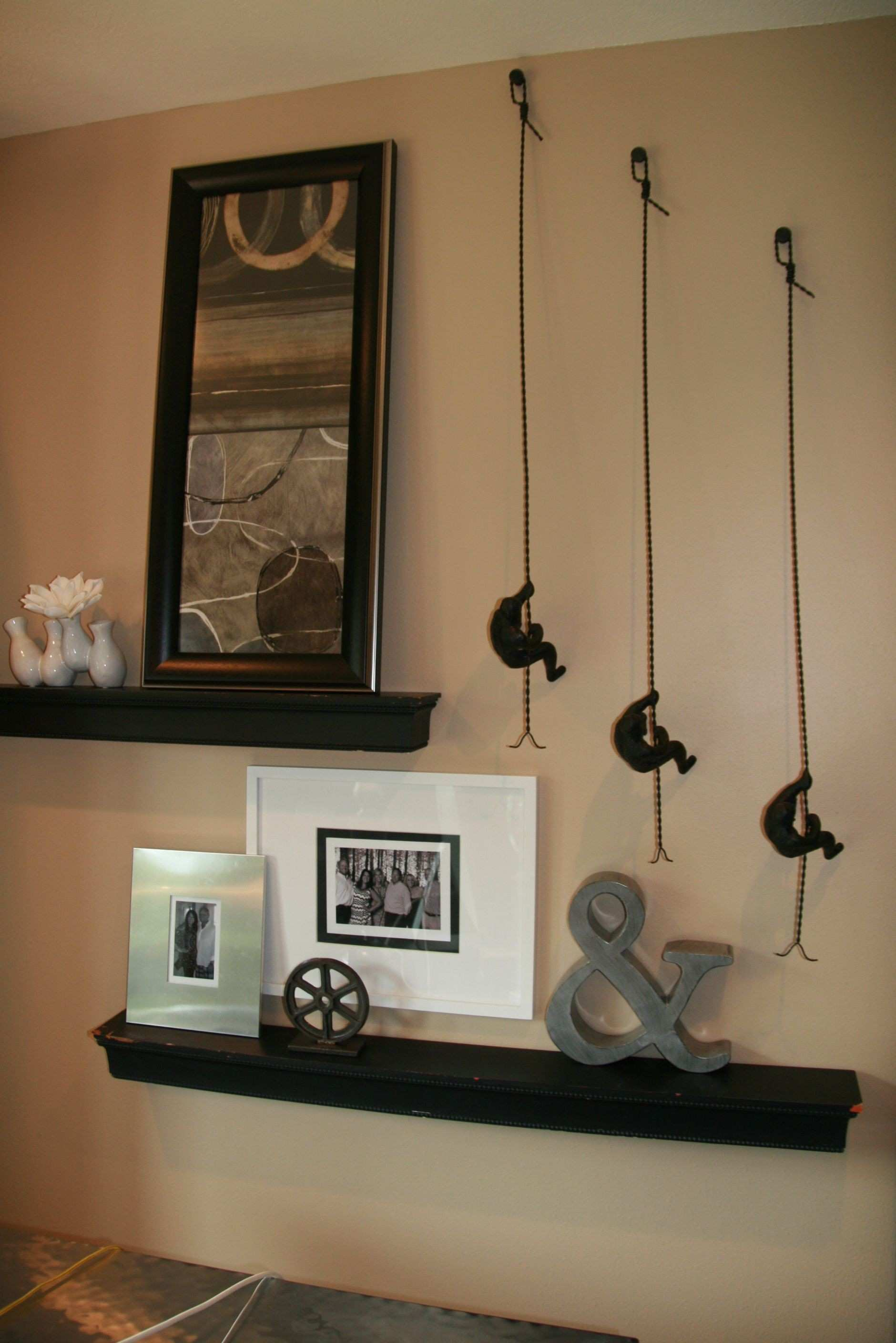 Wall arrangement Architectural wall feature Wall shelves and
