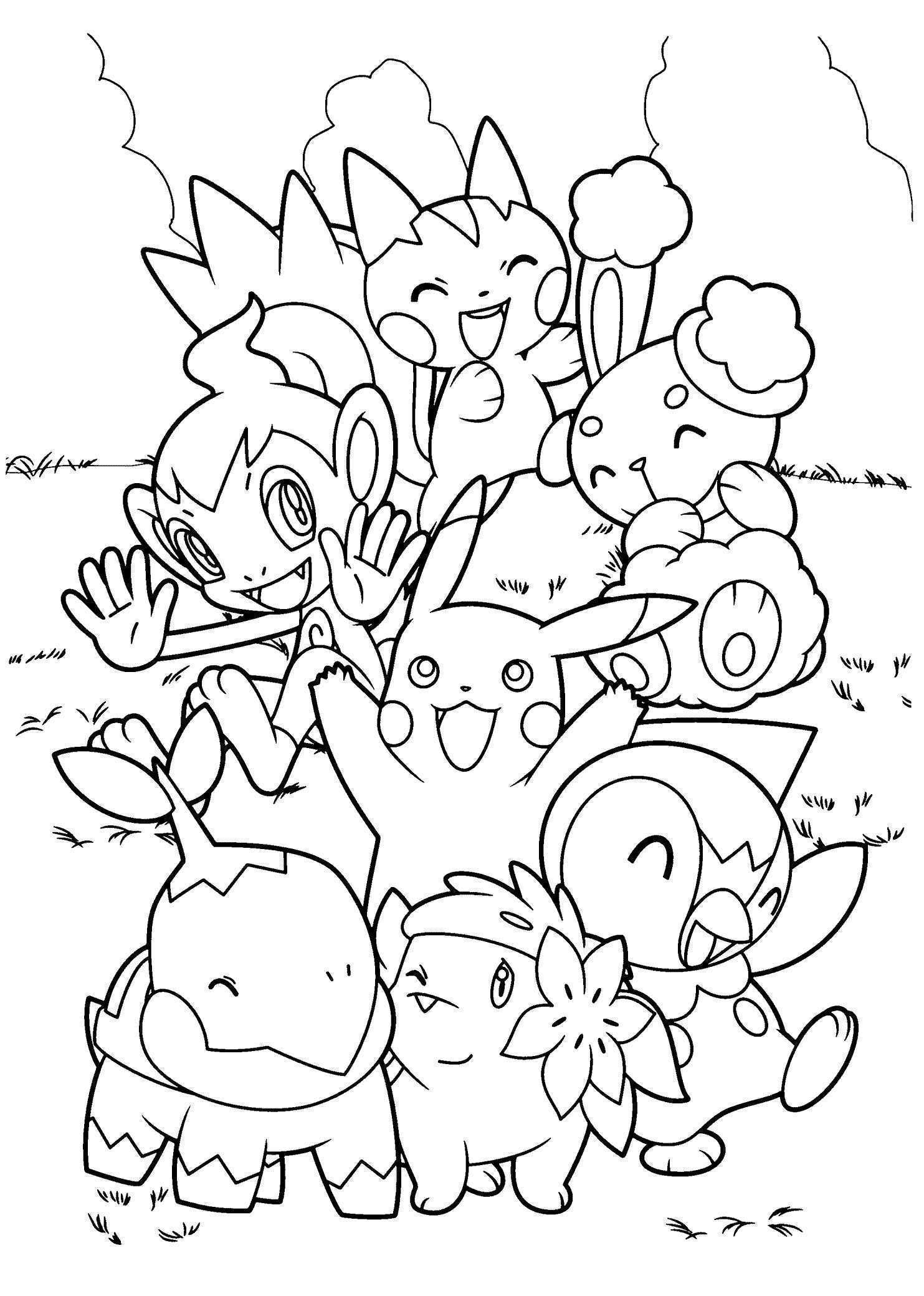 Top 75 Free Printable Pokemon Coloring Pages Line – Fun Time