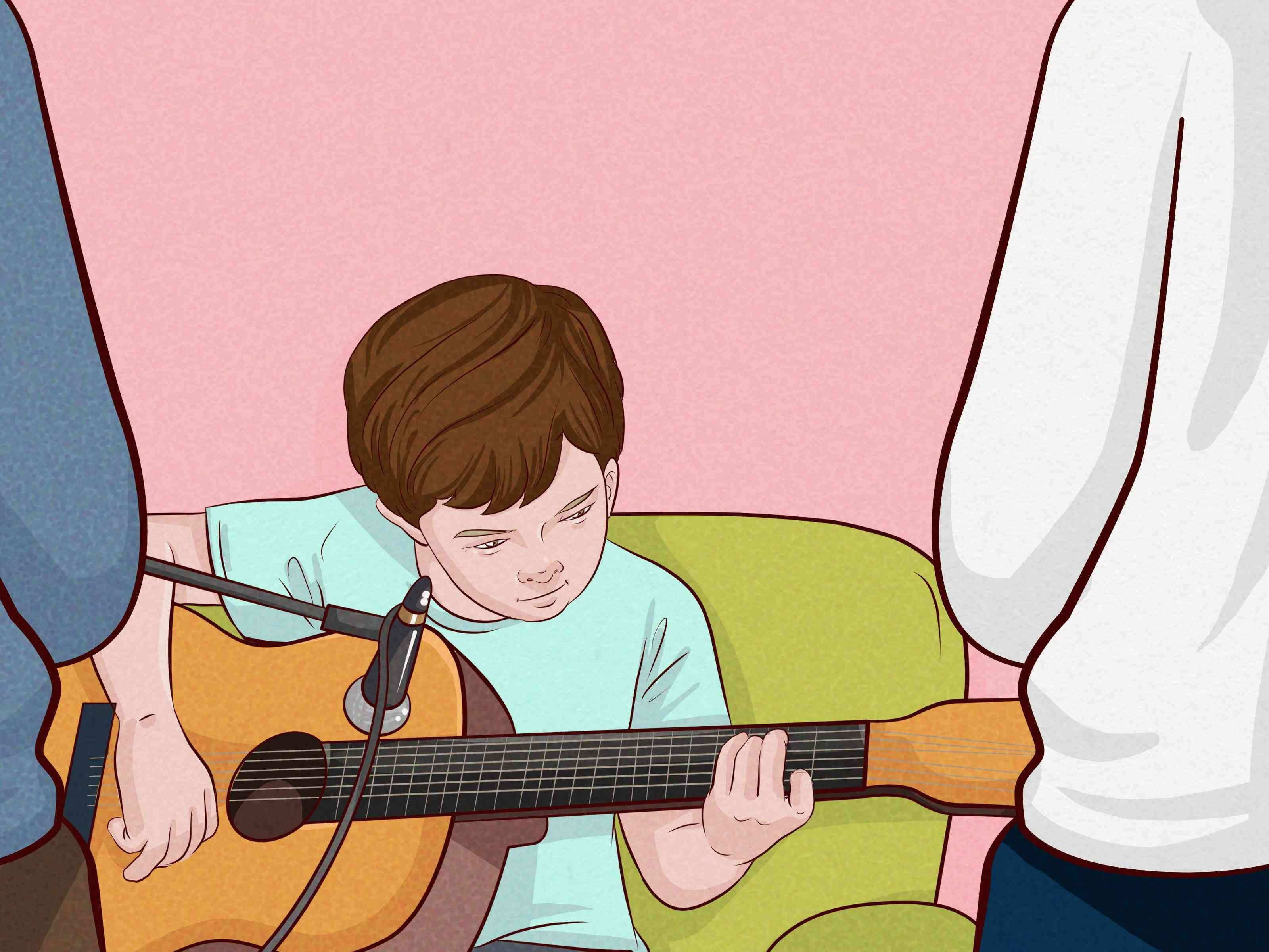 3 Ways to Teach Kids to Play Guitar Wikihow for Kid Rock Wall Paper