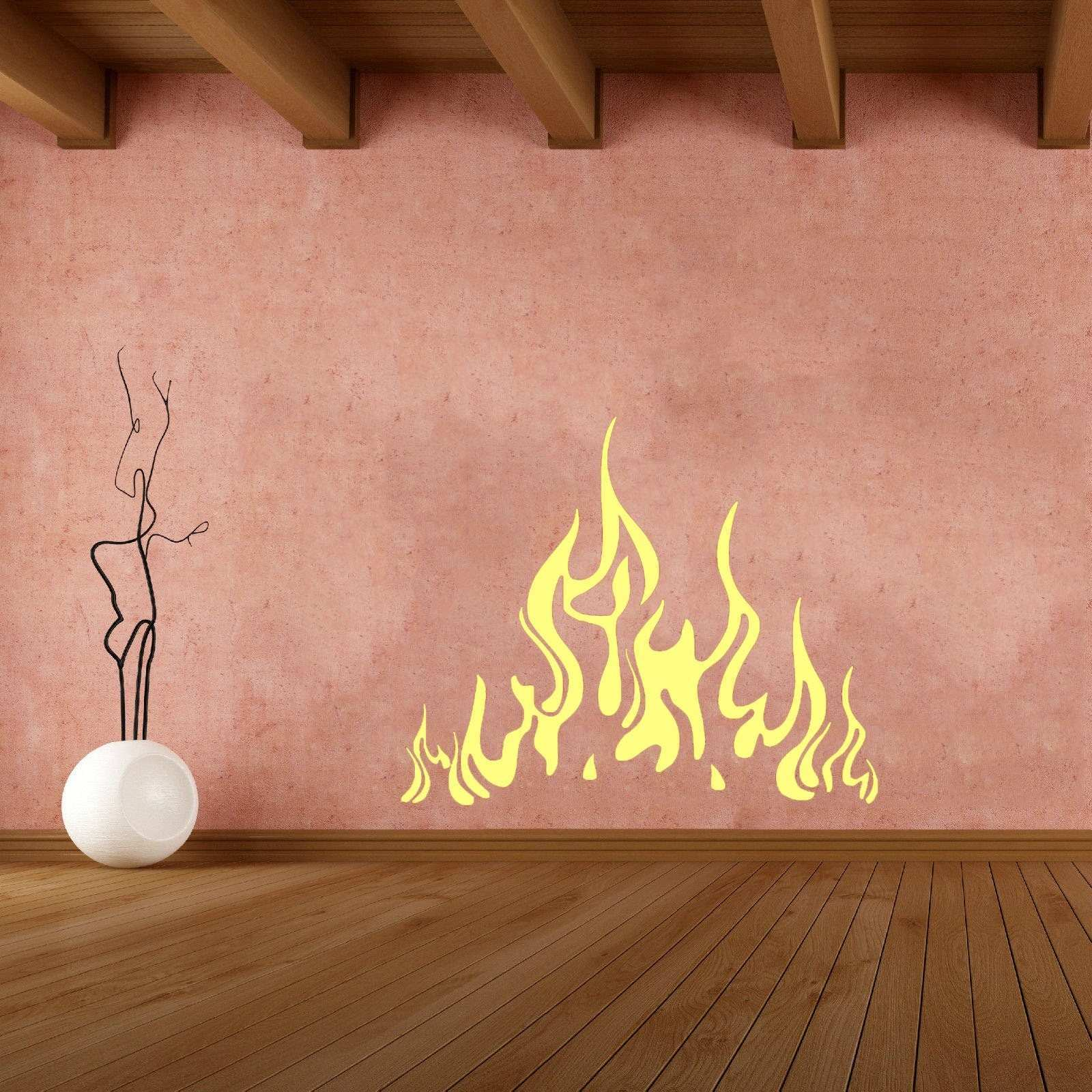 Special Wall Decals Fire Flame Decal Vinyl Sticker Fireplace Home