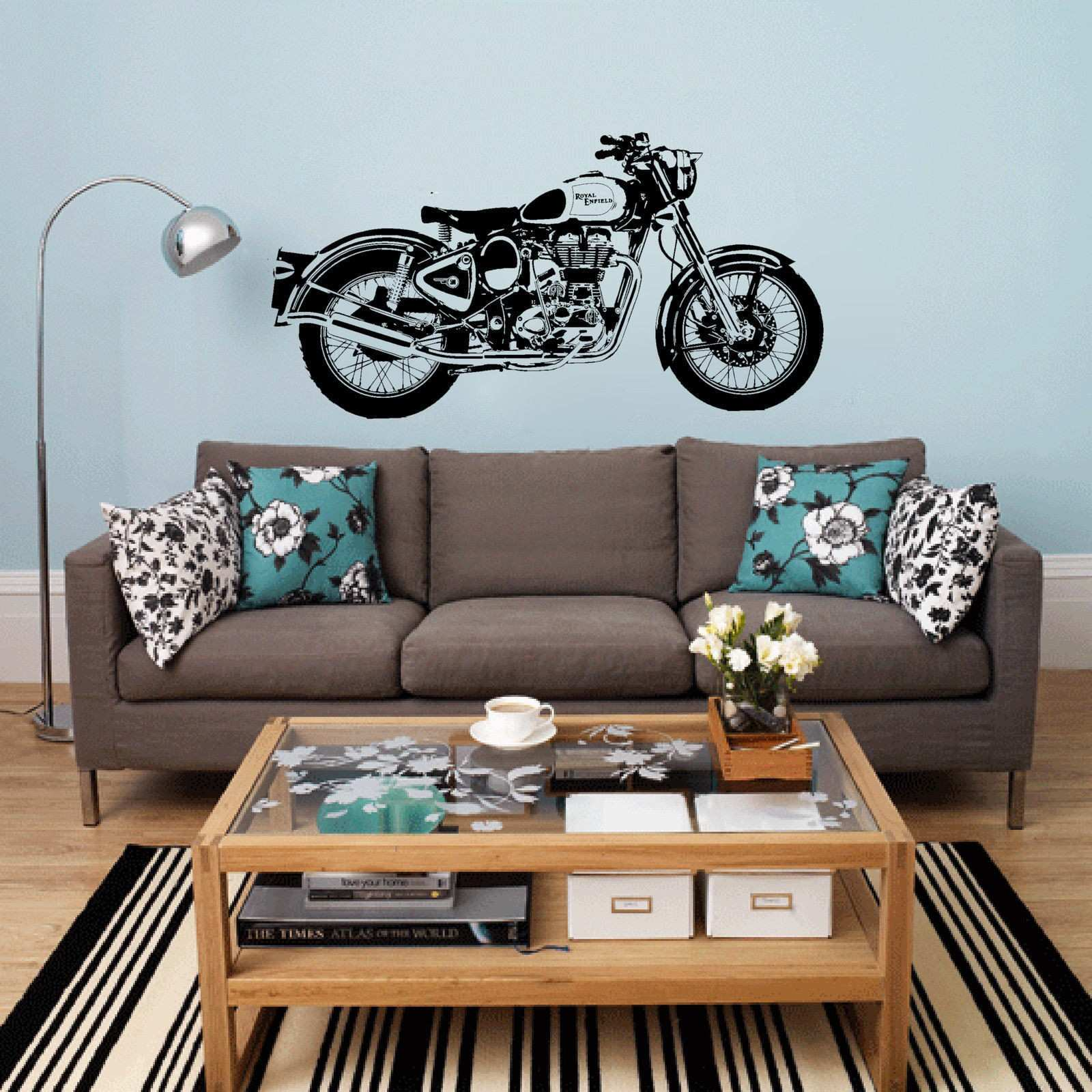 D3681 Motorbike Wall Art Sticker Classic English Motorcycle Decal