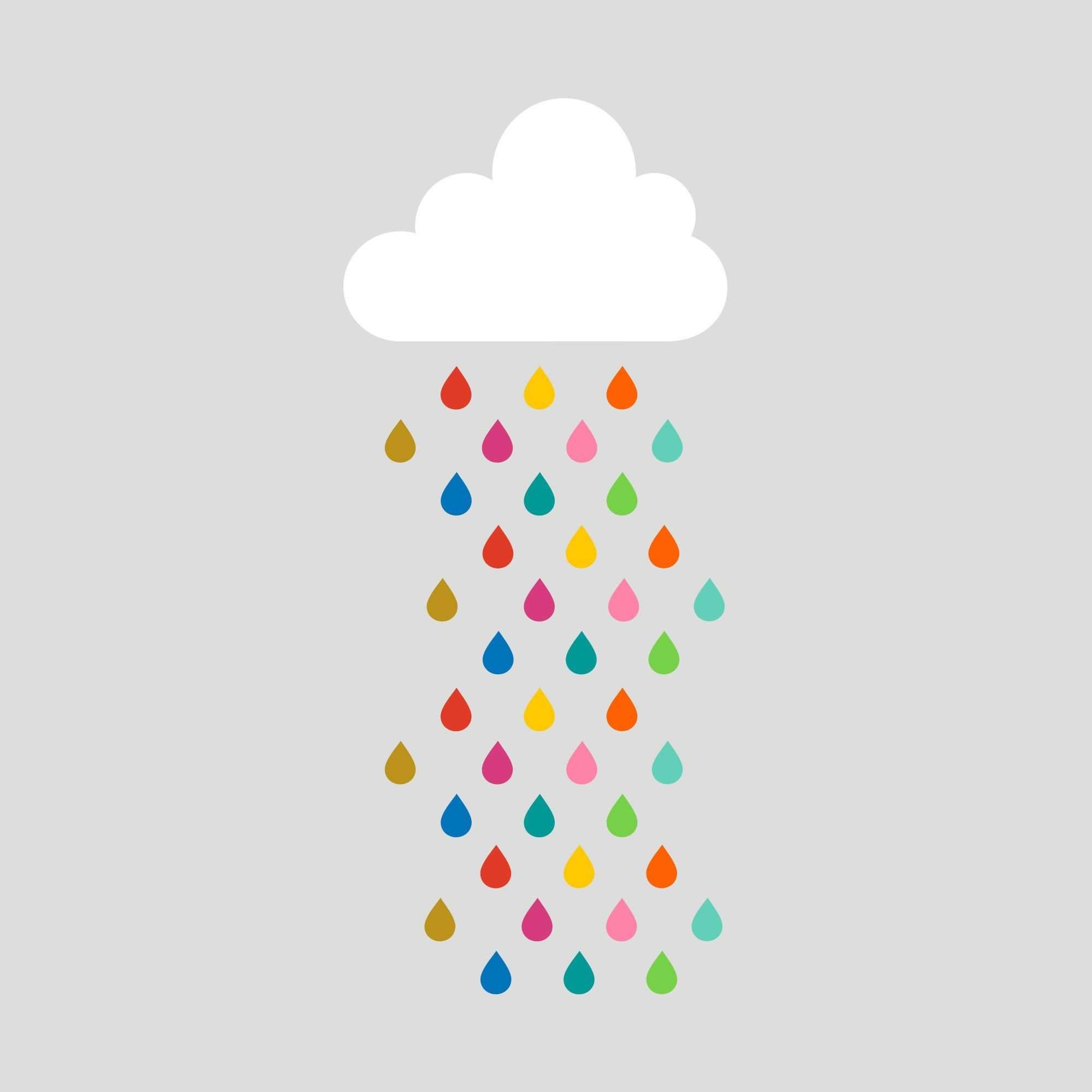 Grab your umbrella for this giant rain cloud wall sticker is about