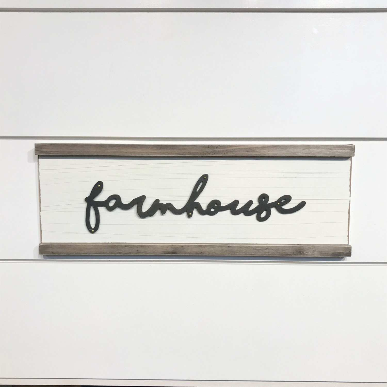 Farmhouse Wood and Metal Wall Decor Sign