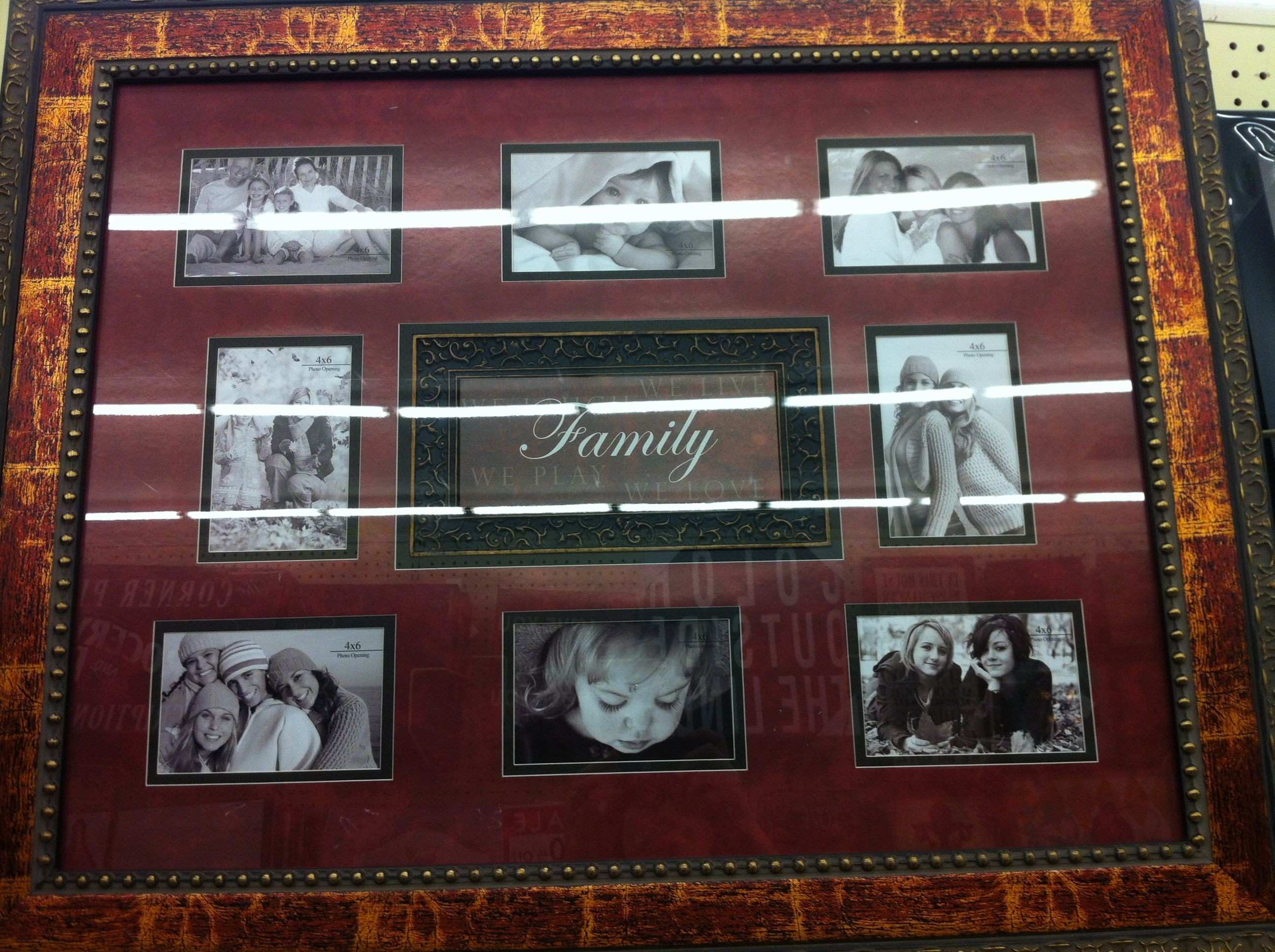 Family collage frame Wall Pinterest
